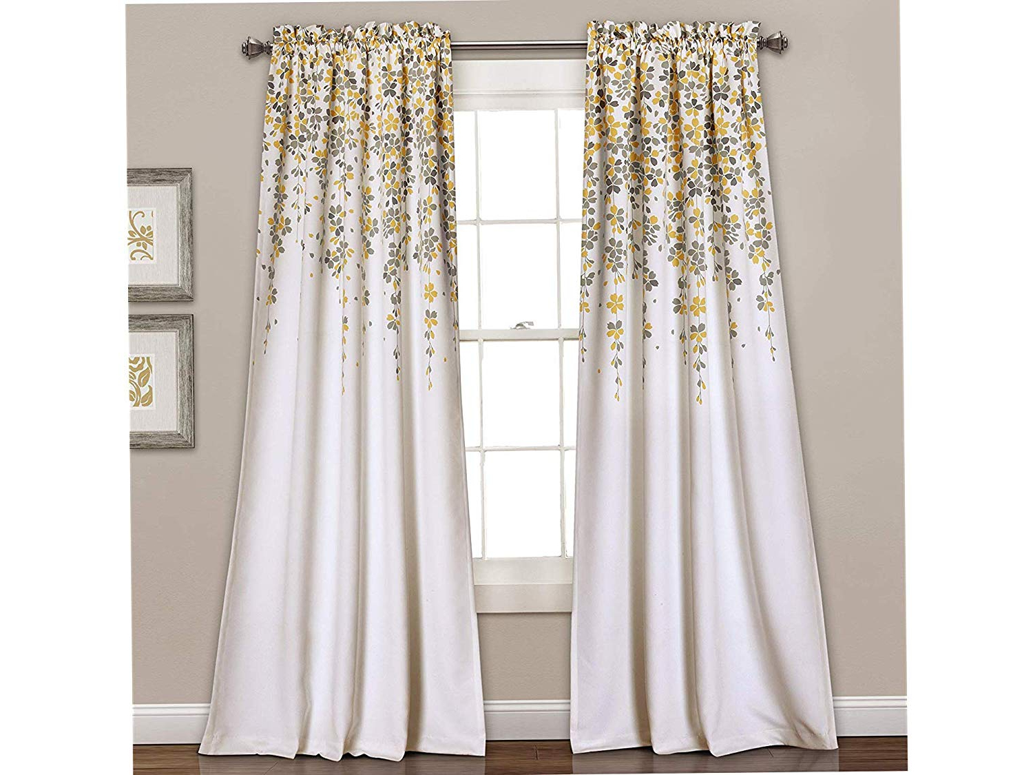 Latest Amazon: Lush Dеcоr Home Decor Weeping Flowers Room Pertaining To Dolores Room Darkening Floral Curtain Panel Pairs (View 20 of 20)