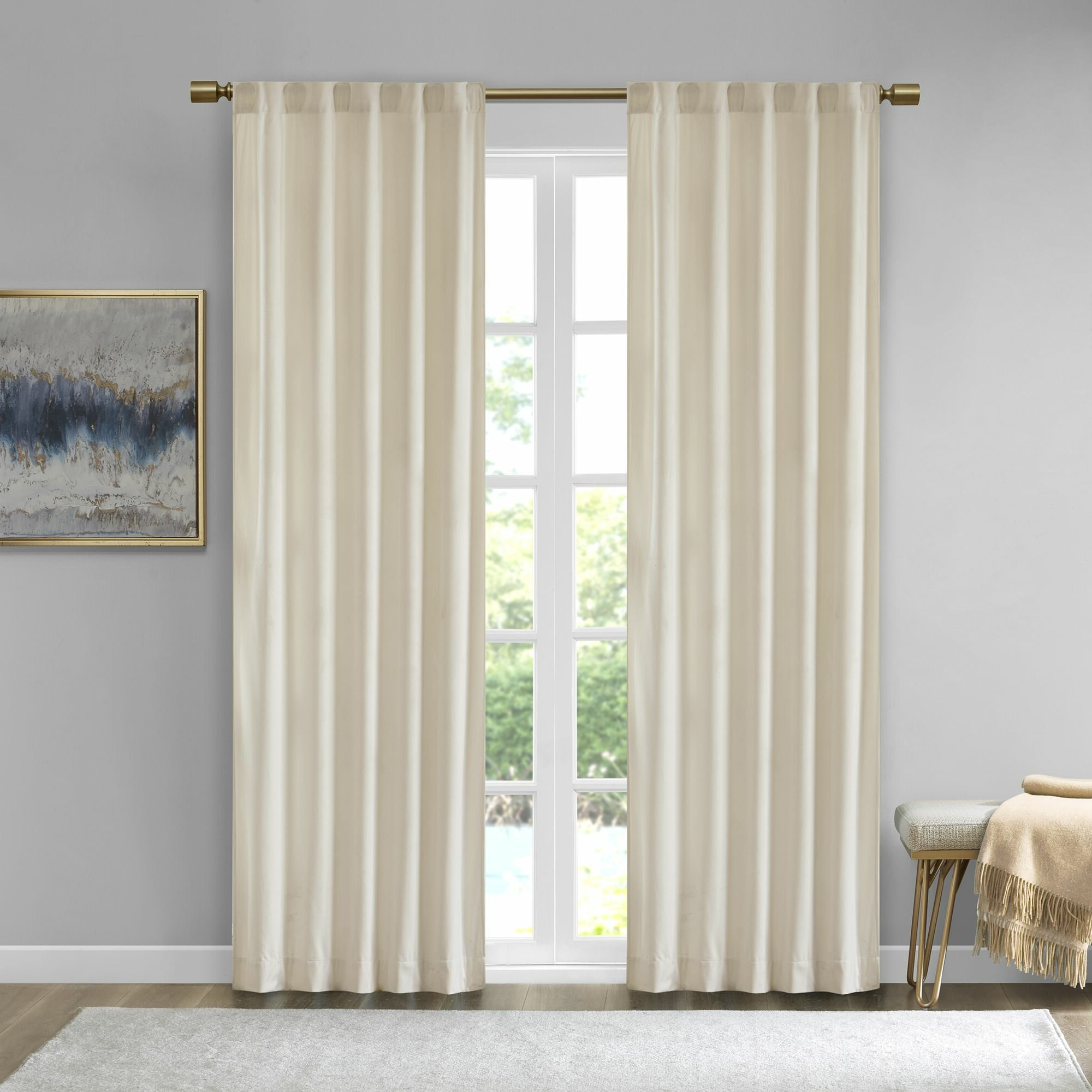 Latest Aurora Poly Velvet Solid Room Darkening Rod Pocket/tab Top Curtain Panels For Velvet Solid Room Darkening Window Curtain Panel Sets (Gallery 17 of 20)
