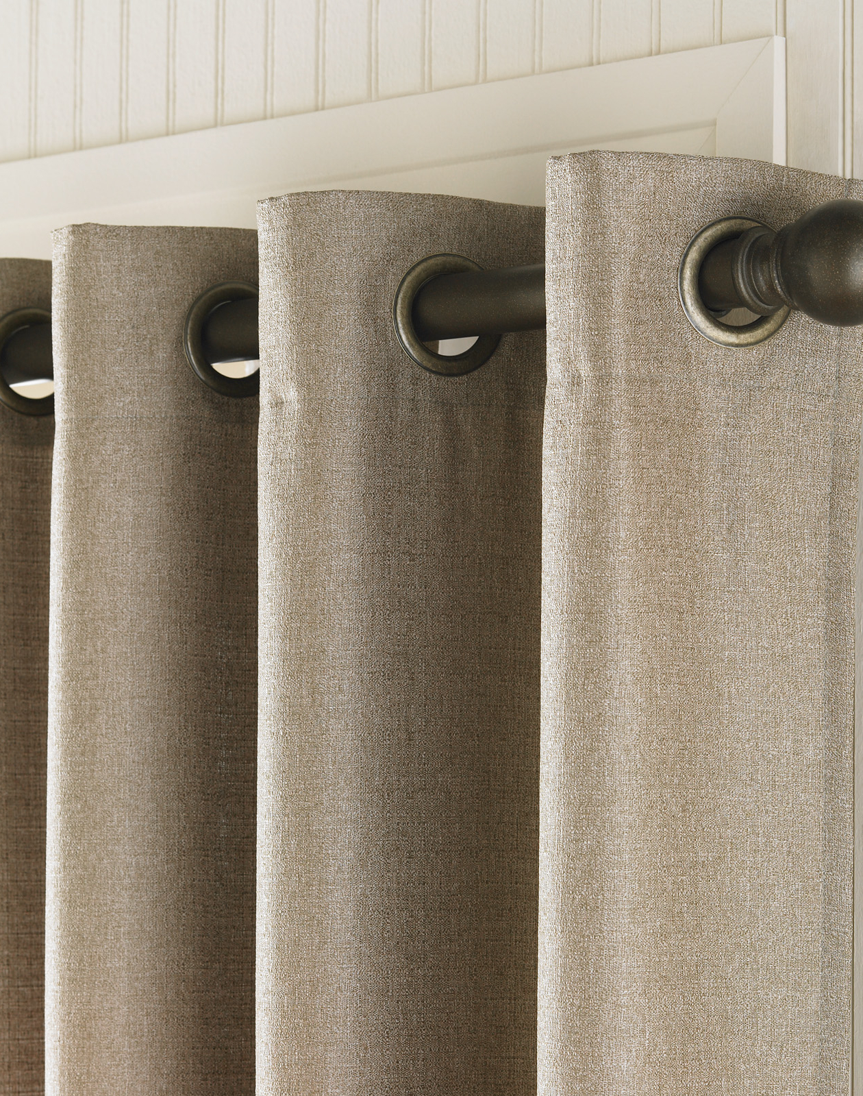 Latest Grommet Curtain Panels Pertaining To Monterey Textured Lined Grommet Drapery / Curtainworks (View 17 of 20)