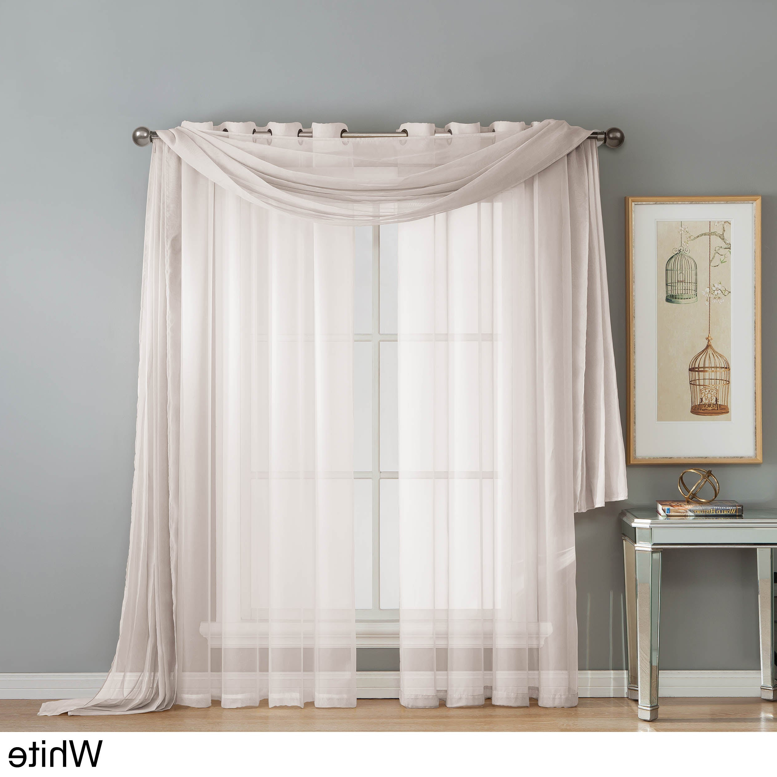 Latest Laya Fretwork Burnout Sheer Curtain Panels Intended For Window Elements Diamond Sheer Voile 112 X 84 In (View 14 of 20)