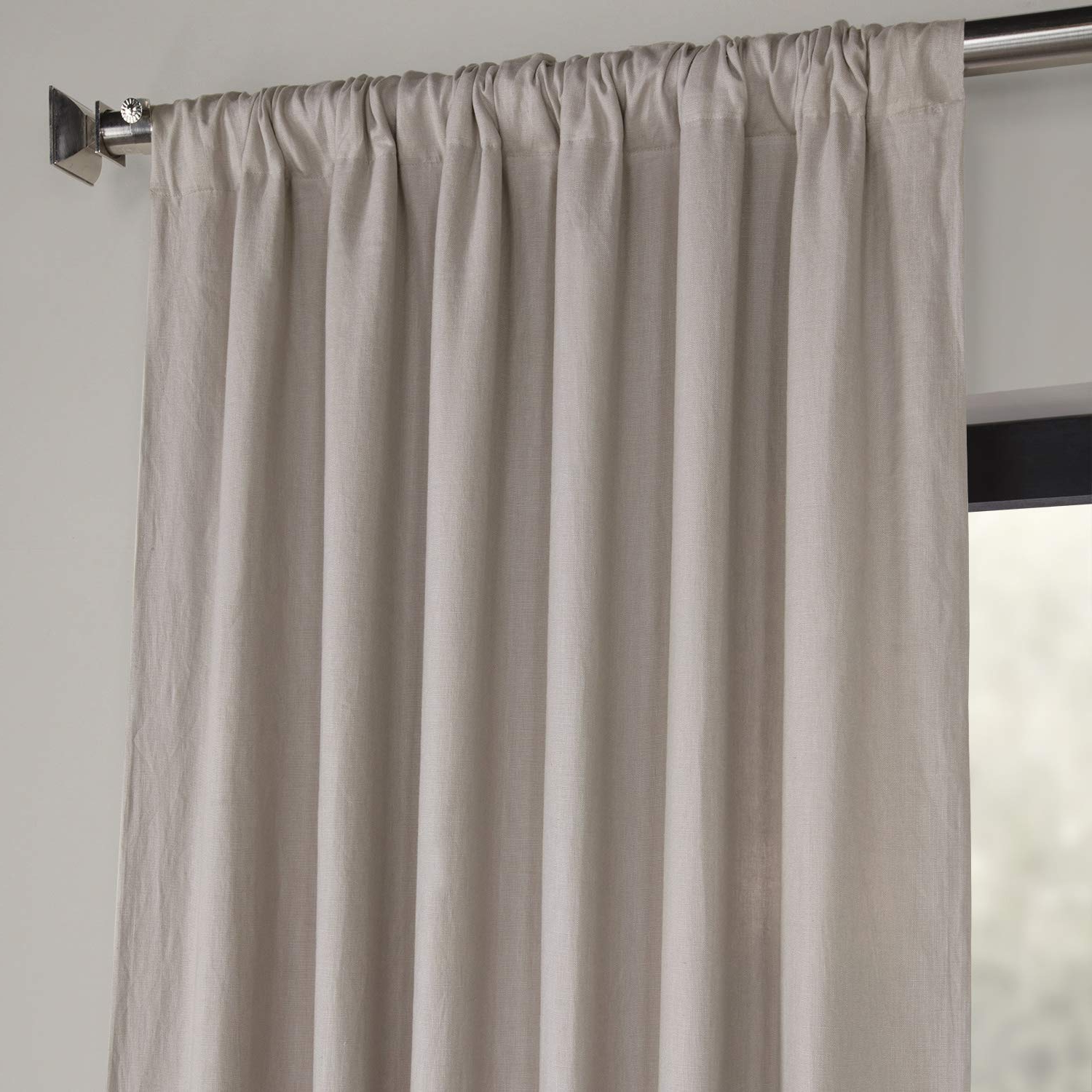 Latest Ln Xs1701 96 French Linen Curtain, Earl Grey, 50 X 96 With French Linen Lined Curtain Panels (View 5 of 20)