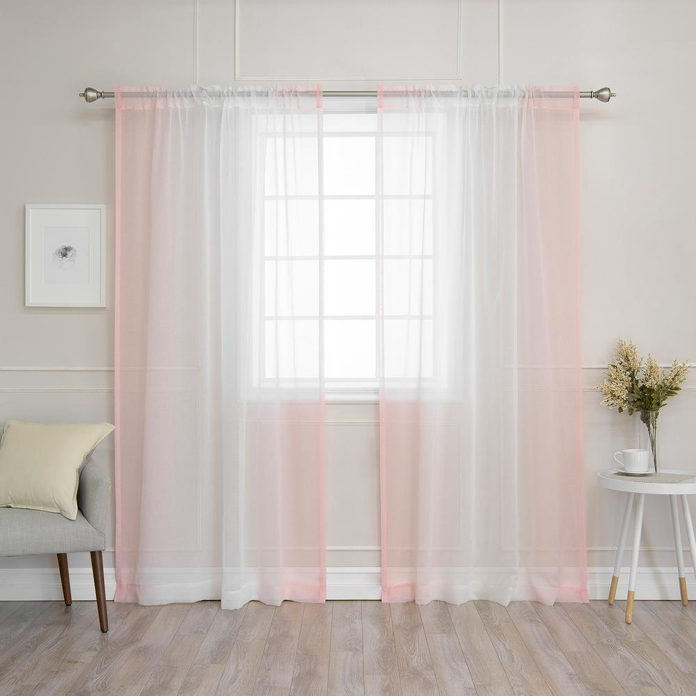 Latest Ombre Faux Linen Semi Sheer Curtains Throughout Best Home Fashion 84 In (View 8 of 20)