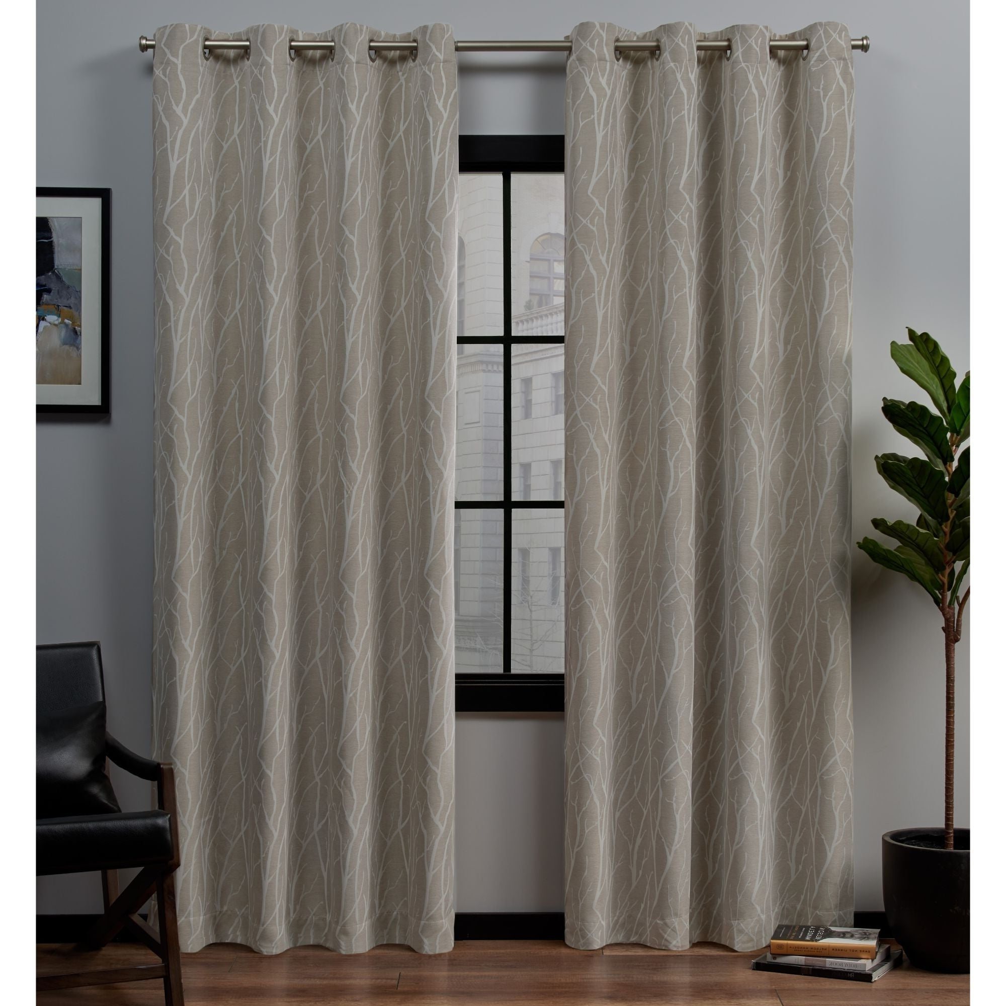 Featured Photo of Forest Hill Woven Blackout Grommet Top Curtain Panel Pairs