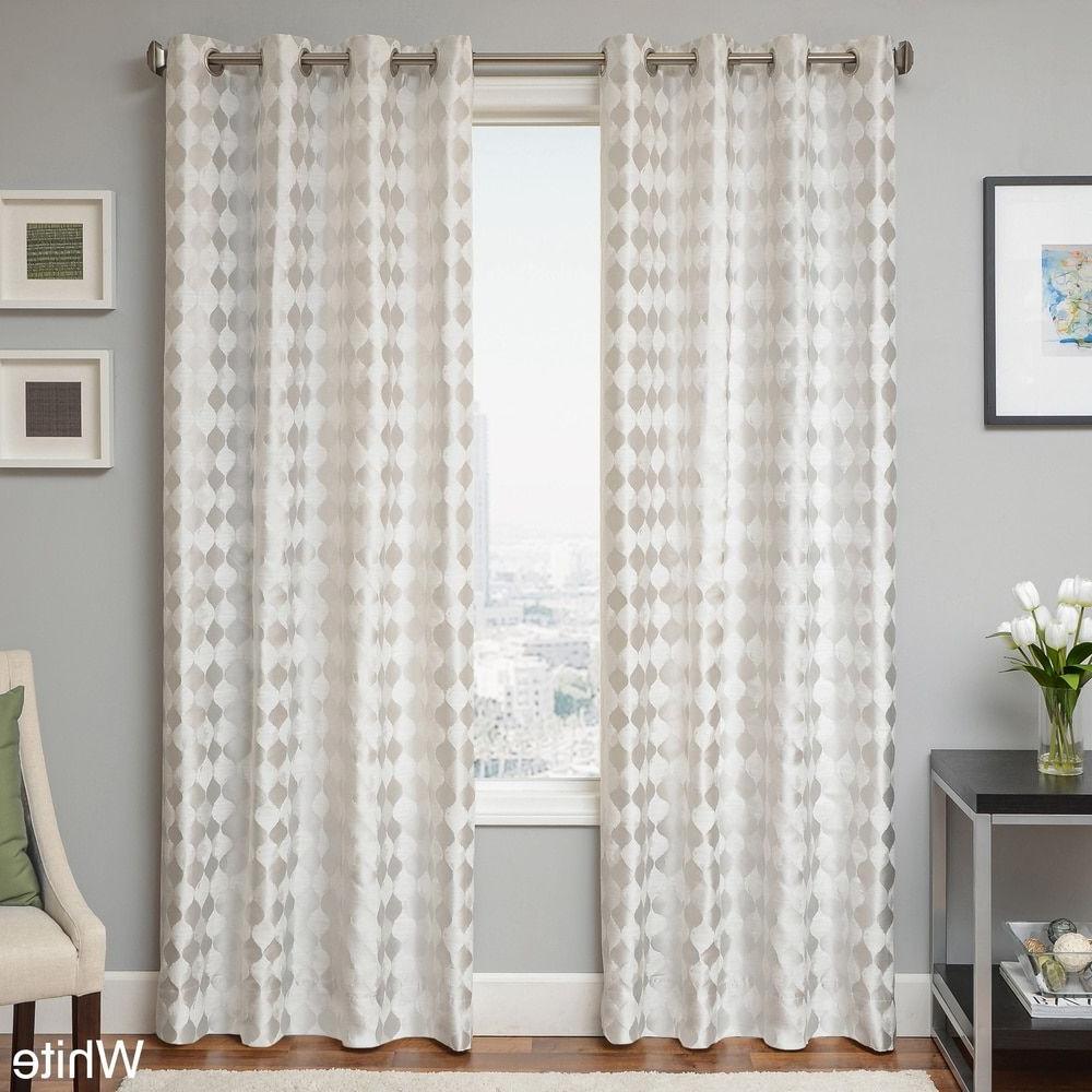 Latest Softline Trenton Grommet Top Curtain Panels In Peyton Woven Jacquard Grommet Top Curtain Panel – Free (View 6 of 20)
