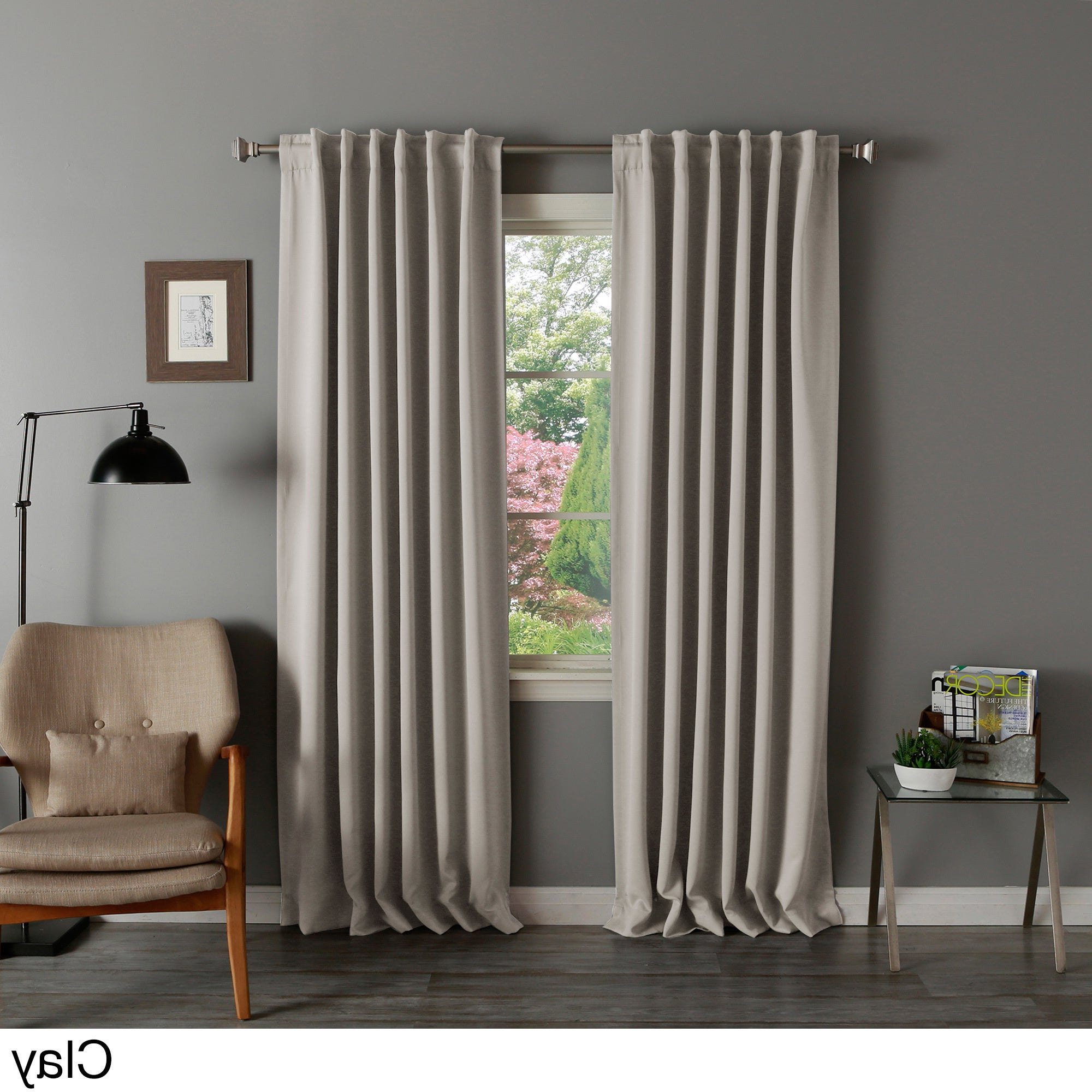 Featured Photo of Solid Thermal Insulated Blackout Curtain Panel Pairs