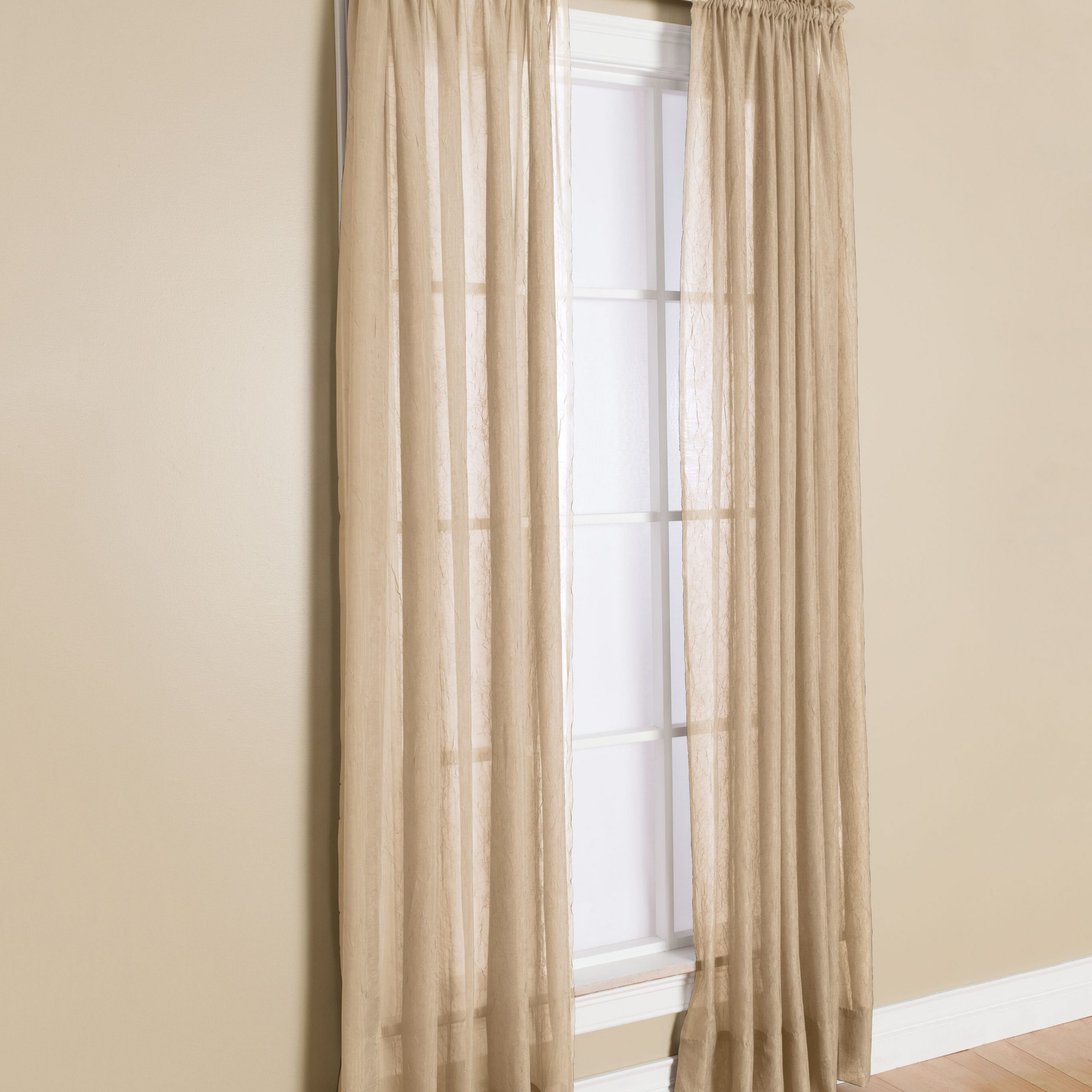 Latest Solunar Solid Sheer Rod Pocket Single Curtain Panel Intended For Light Filtering Sheer Single Curtain Panels (View 6 of 20)