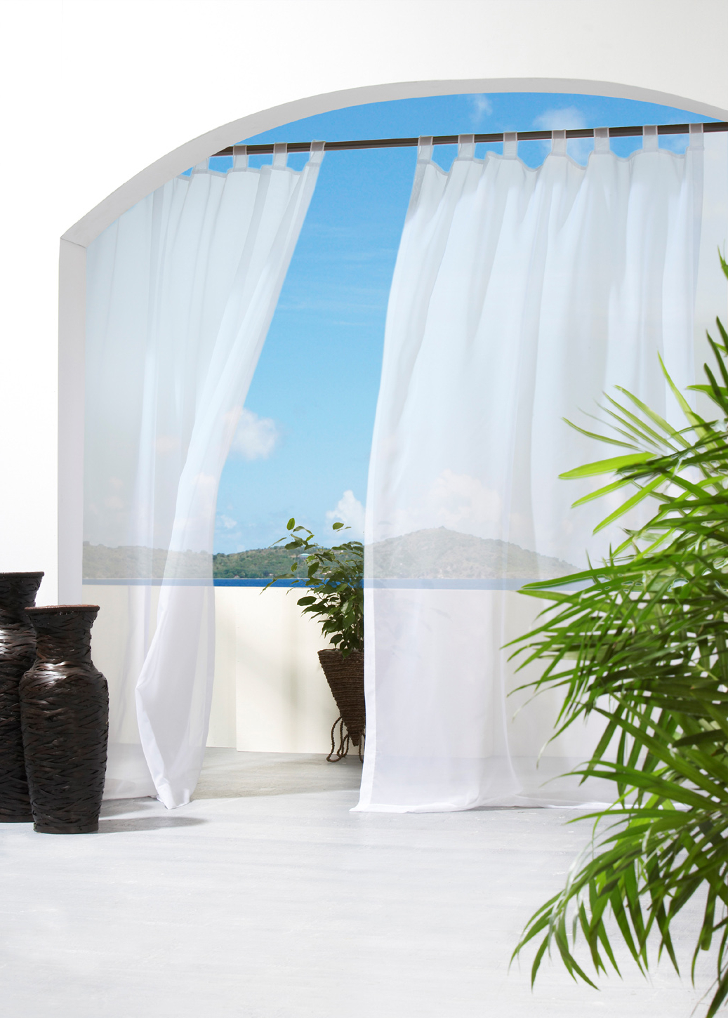 Latest Velcro Tab Top Panel – Indoor/outdoor – Escape Voile With Tab Top Sheer Single Curtain Panels (View 10 of 20)