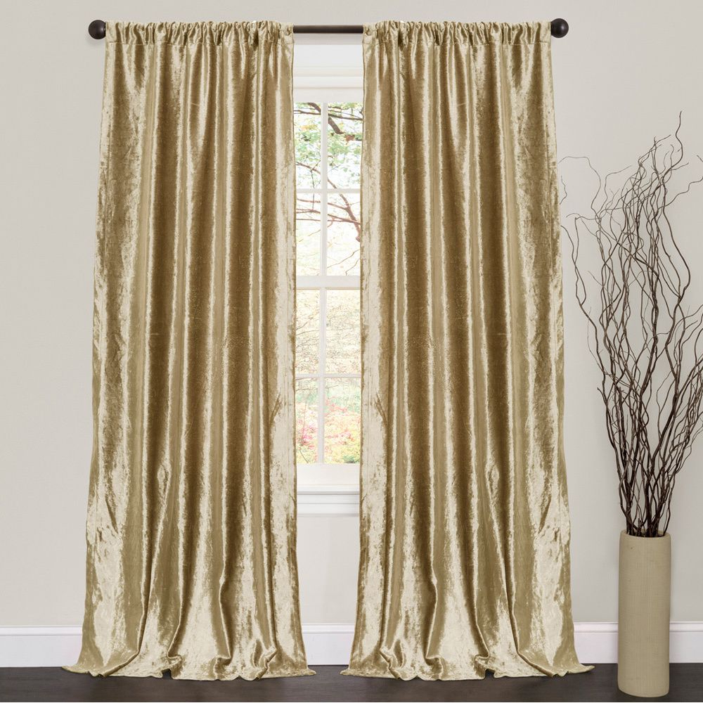 Latest Velvet Dream Silver Curtain Panel Pairs For Lush Decor Velvet Dream Gold 84 Inch Curtain Panel Pair (View 2 of 20)