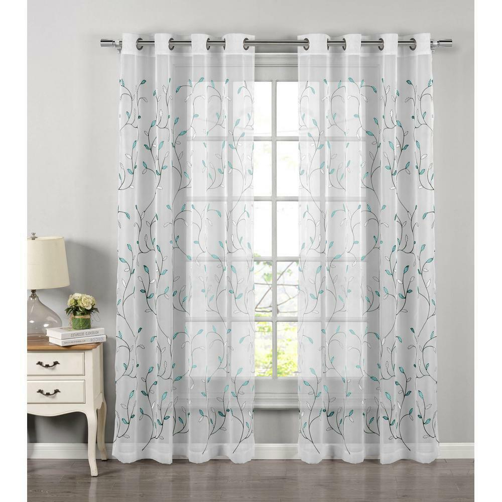 Laya Fretwork Burnout Sheer Curtain Panels In Well Liked Sheer Curtain Panels – 63.141. (View 11 of 20)