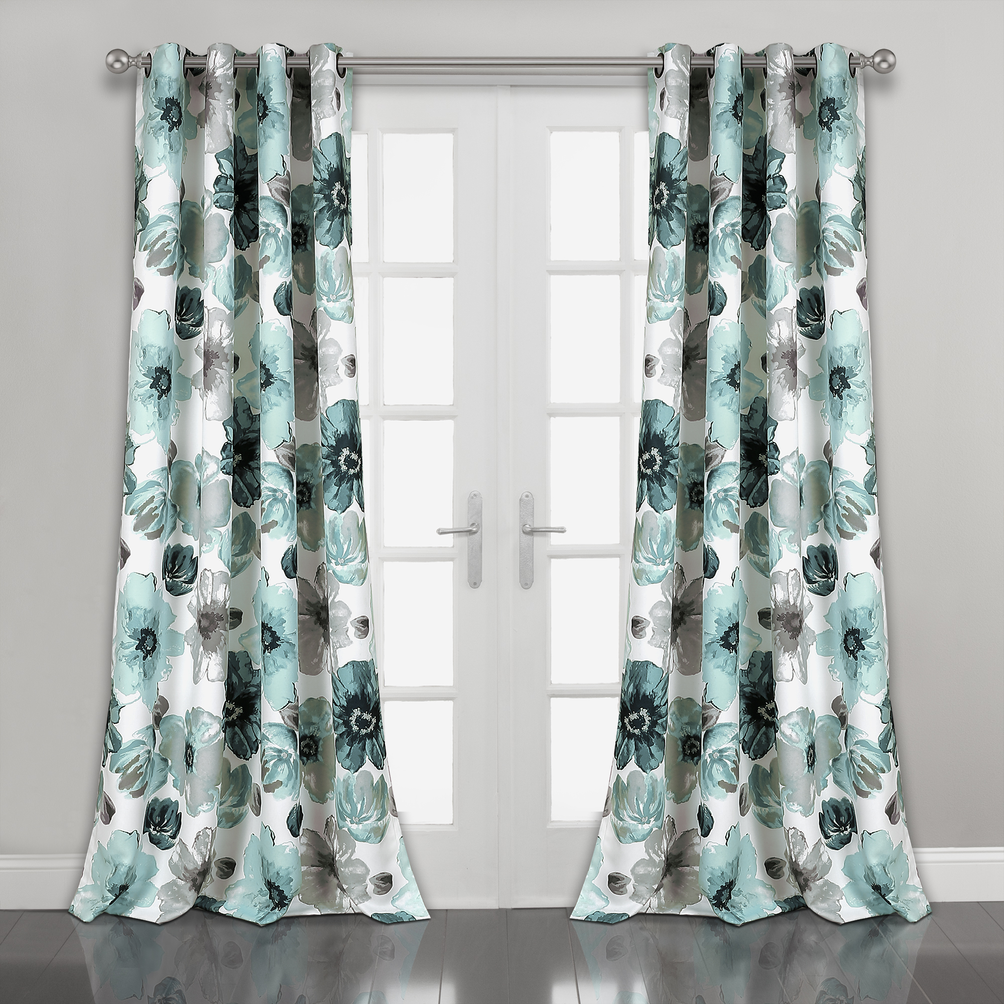 Leah Room Darkening Window Curtain Panels Blue 52x95 Set Pertaining To Popular Floral Pattern Room Darkening Window Curtain Panel Pairs (View 16 of 20)