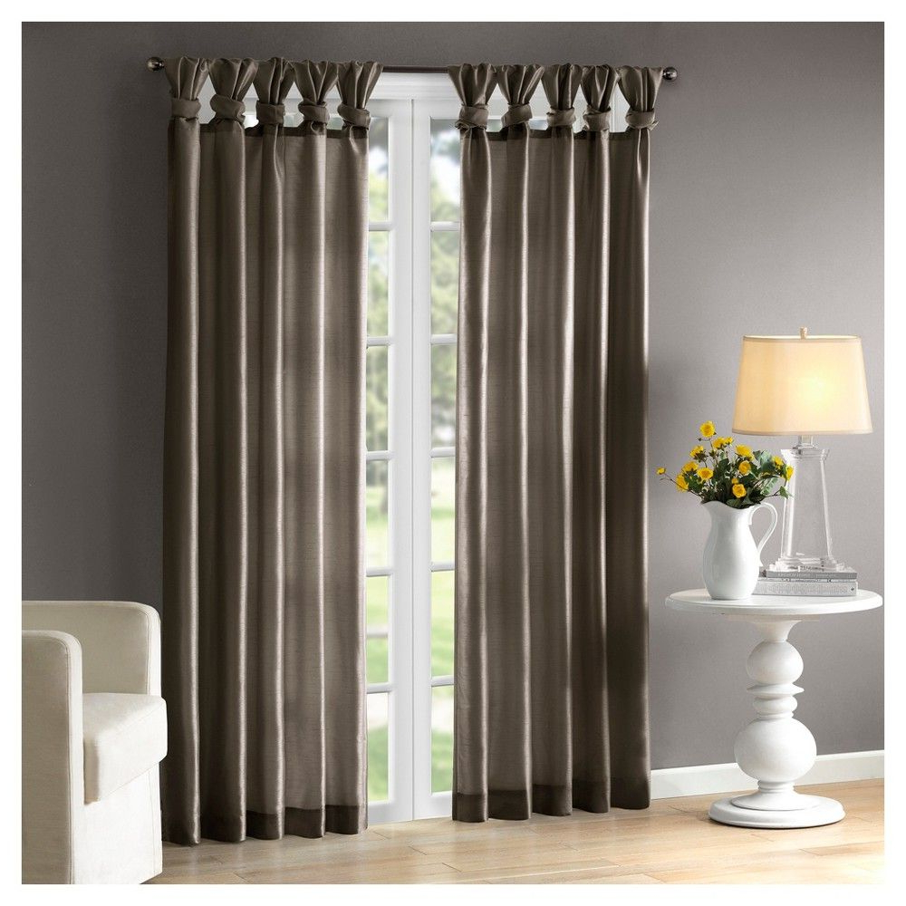 Lillian Twisted Tab Lined Curtain Panel Spice (50X84 Within Well Liked Twisted Tab Lined Single Curtain Panels (View 7 of 20)