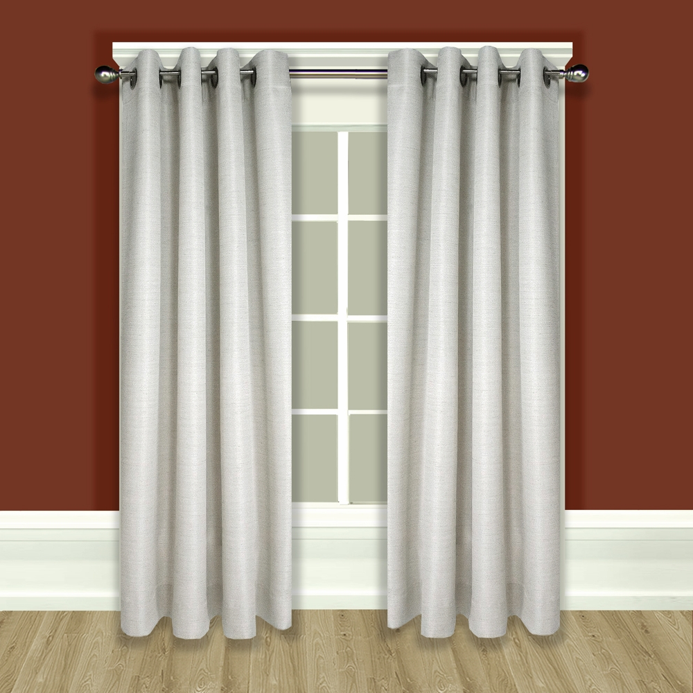 Lined Grommet Curtain Panels Inside Widely Used Grasscloth Lined Grommet Top (Single) Panel (View 4 of 20)