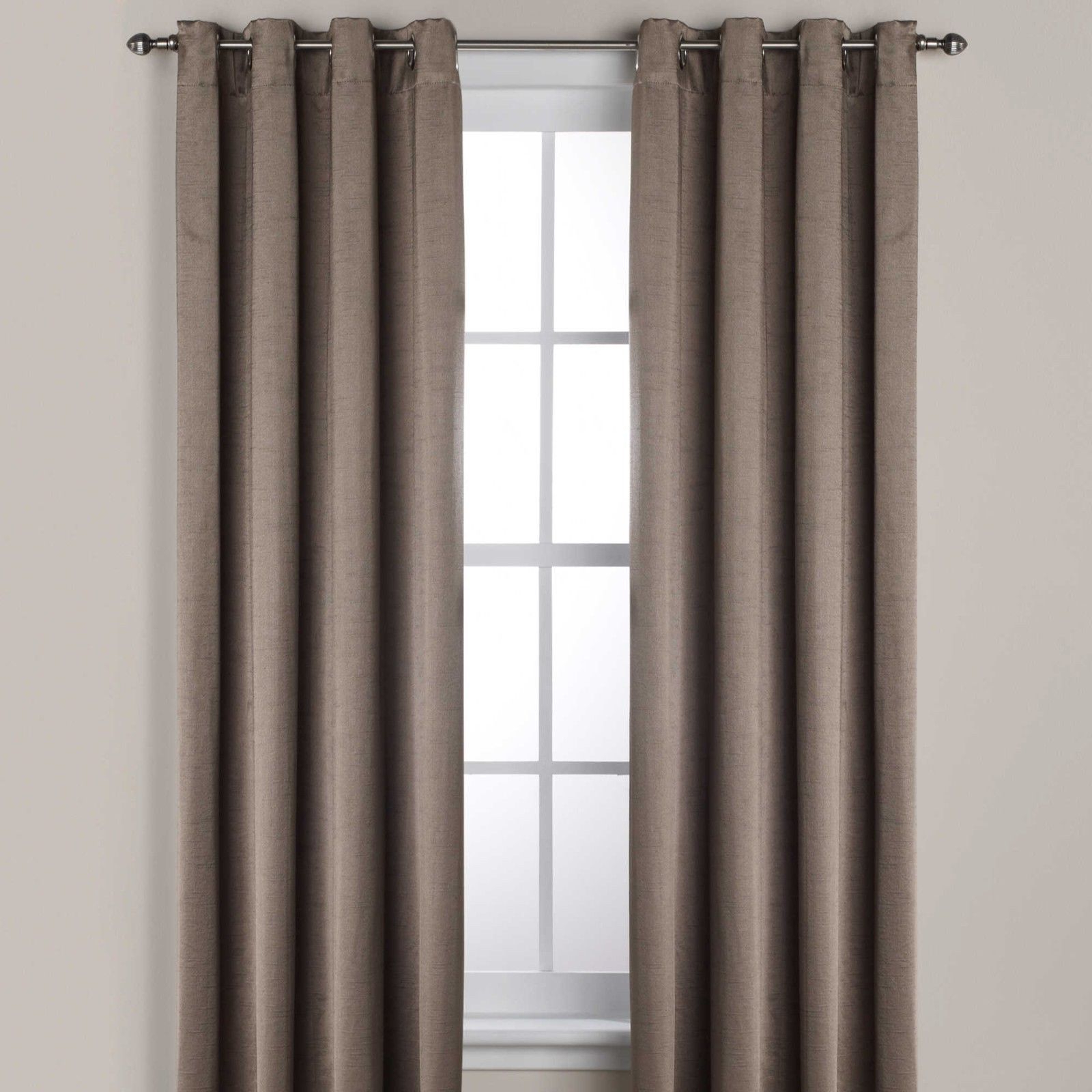 "Lined Grommet Curtain Panels With Regard To Popular Ashton 95"" Lined Grommet Top Room Darkening Window Curtain Panel In Smoke (View 20 of 20)"