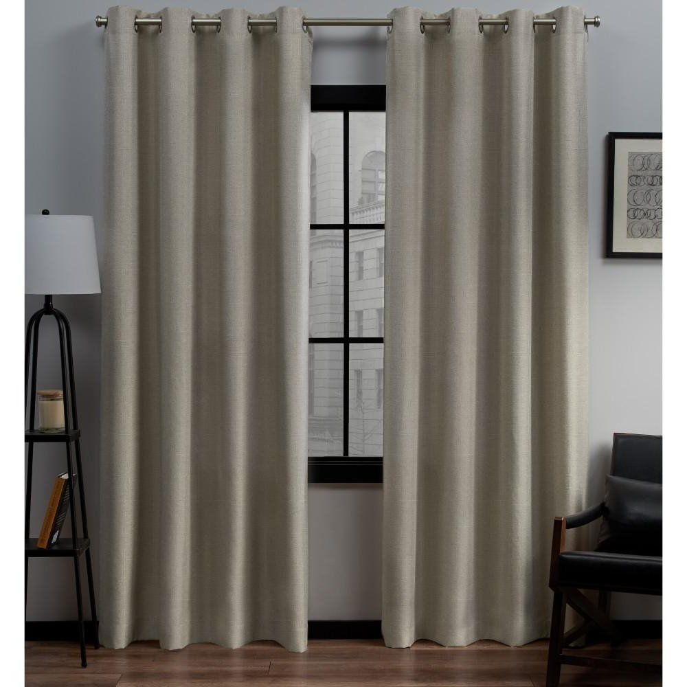 Loha 54 In. W X 84 In. L Linen Blend Grommet Top Curtain Panel In Natural  (2 Panels) Pertaining To Well Known Solid Grommet Top Curtain Panel Pairs (Gallery 5 of 20)