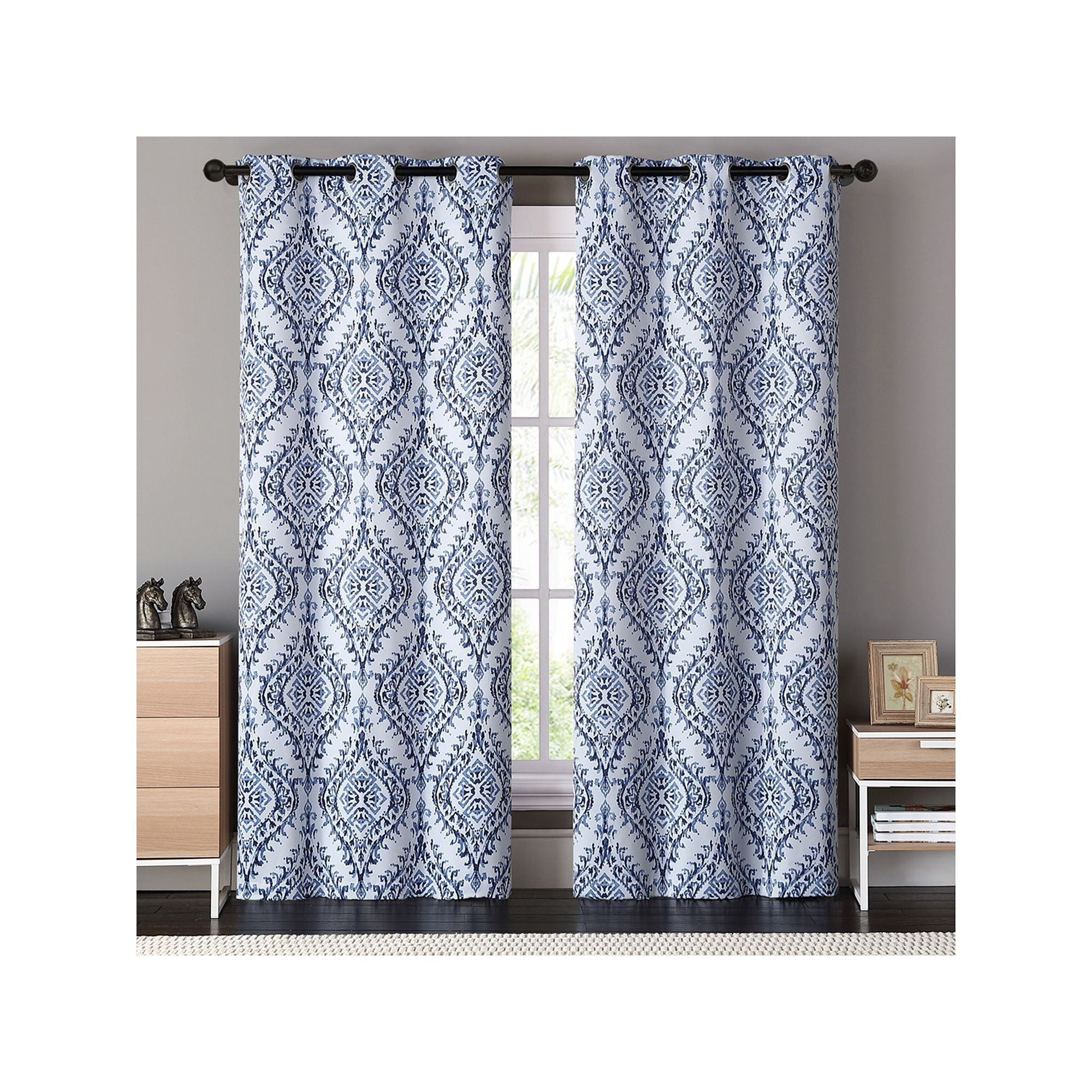 London Blackout Panel Pair Within Trendy Vcny 2 Pack London Blackout Window Curtains (View 16 of 20)