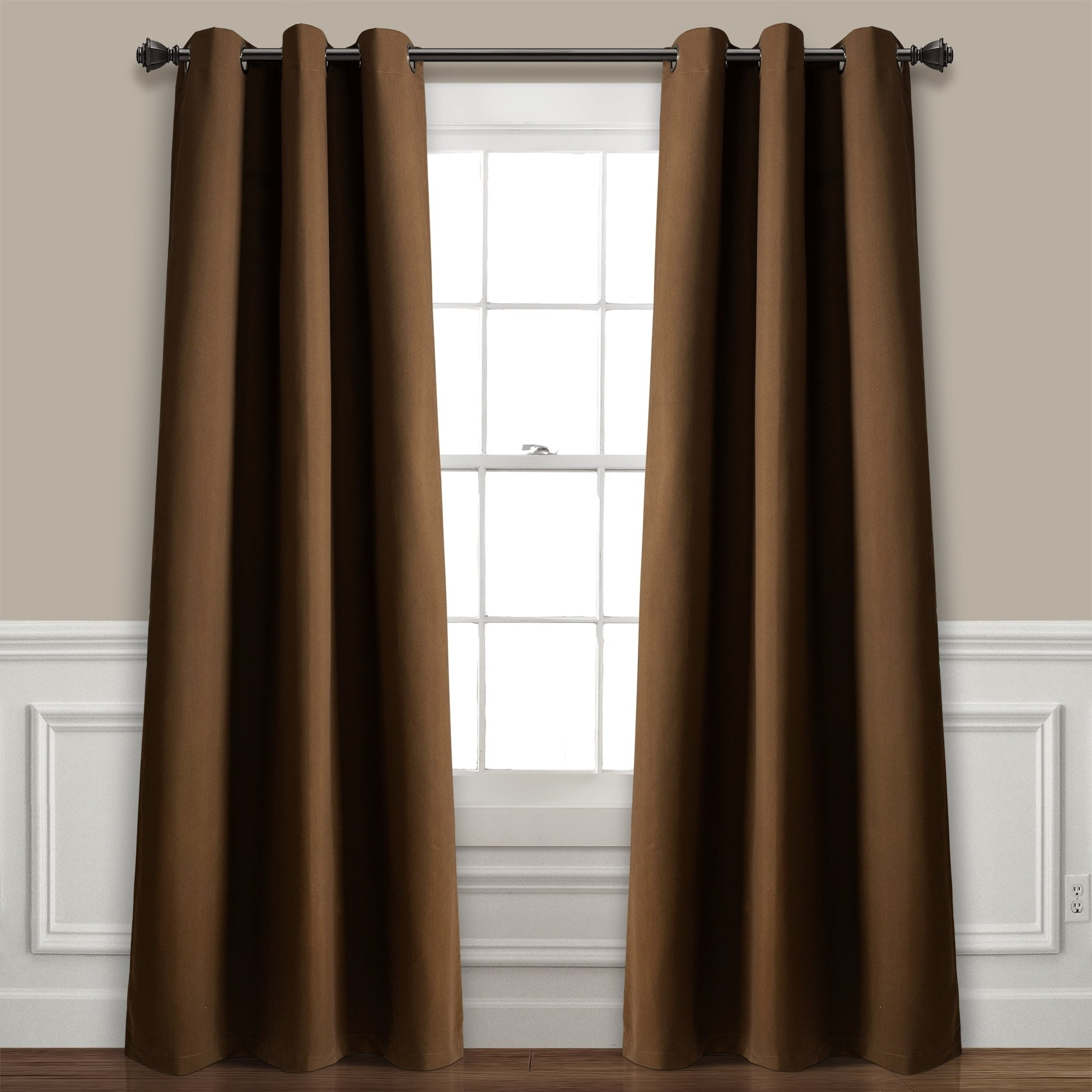 Lush Decor Absolute Blackout Window Curtain Panel Pair Within Well Known All Seasons Blackout Window Curtains (View 15 of 20)