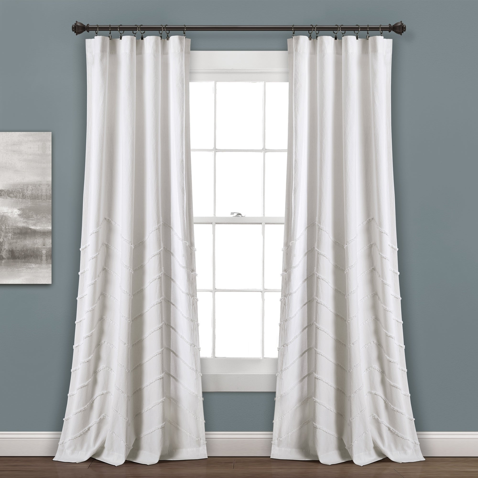 Lush Decor Chenille Chevron Window Curtain Panel Pair With Regard To Well Known The Gray Barn Kind Koala Curtain Panel Pairs (View 8 of 20)