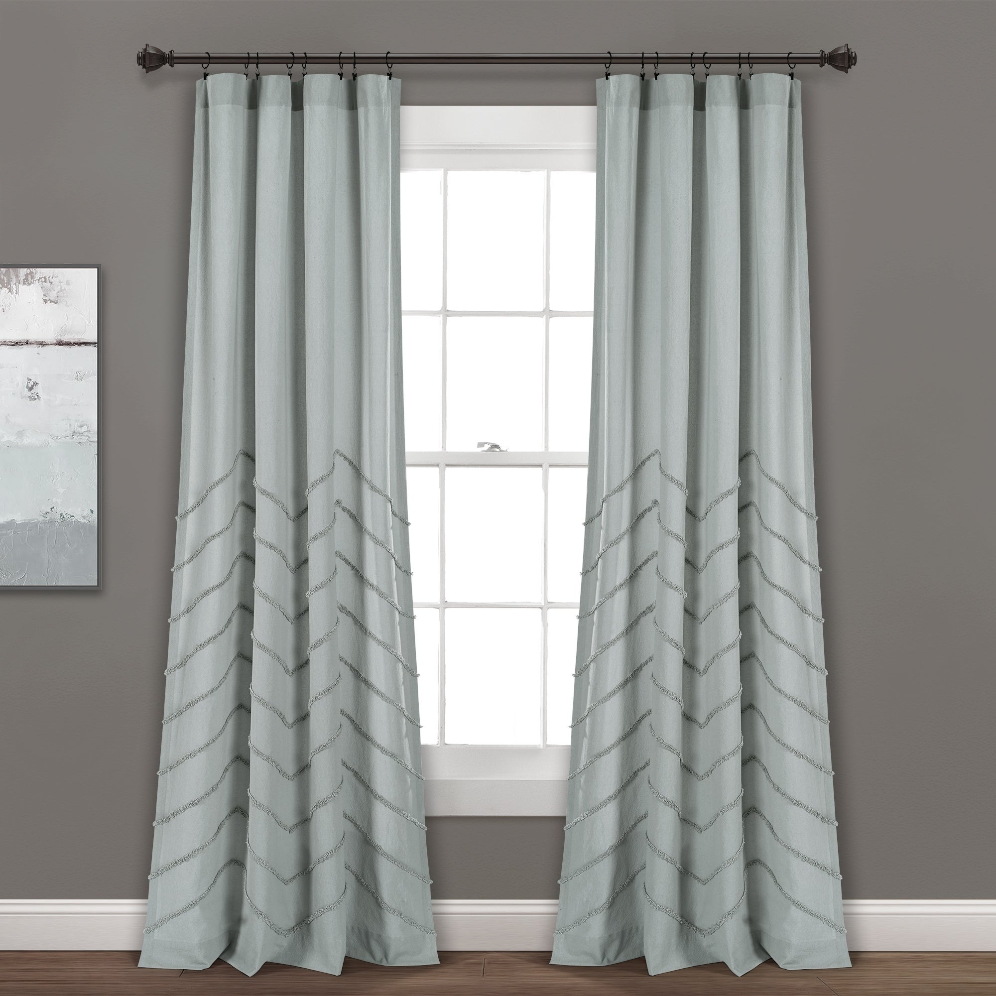 Lush Decor Chenille Chevron Window Curtain Panel Pair Within Famous The Gray Barn Kind Koala Curtain Panel Pairs (View 10 of 20)