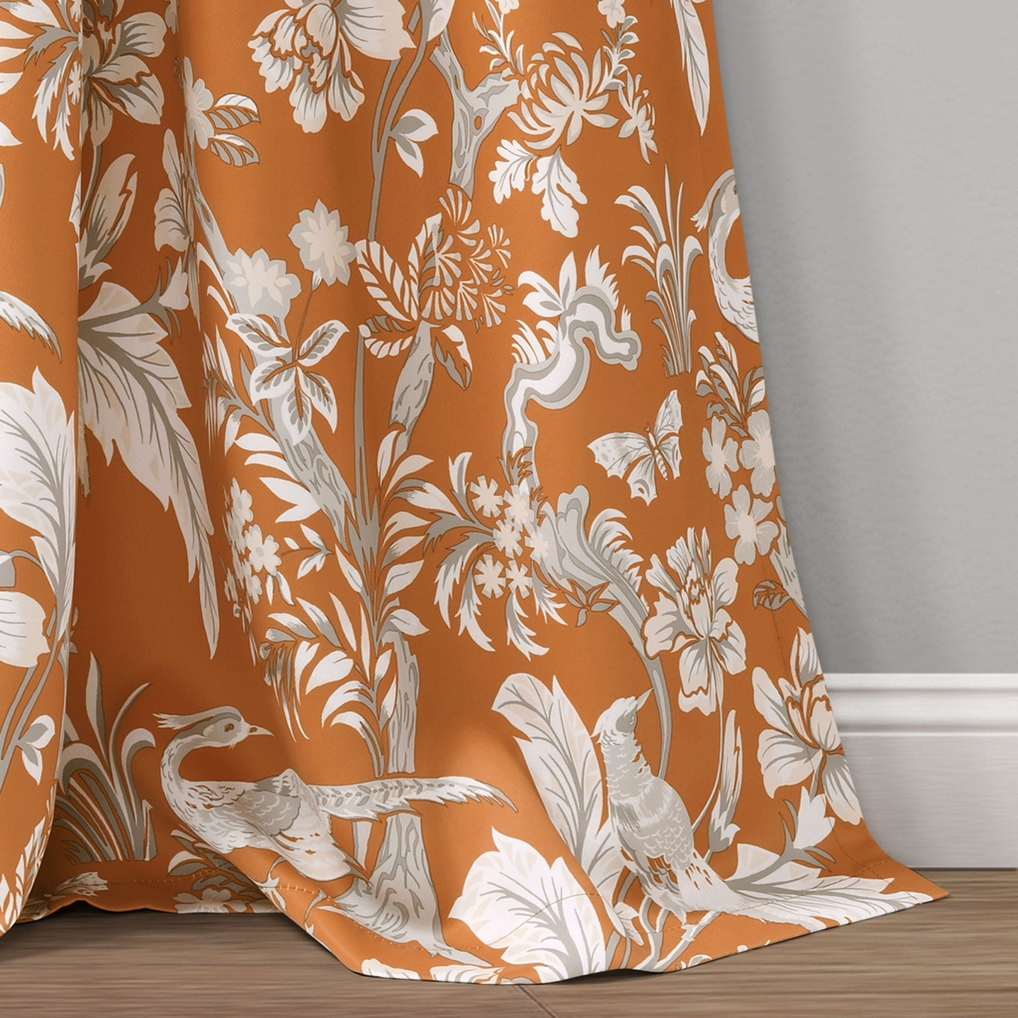 Lush Decor Dolores Room Darkening Floral Curtain Panel Pair Pertaining To Fashionable Dolores Room Darkening Floral Curtain Panel Pairs (Gallery 10 of 20)