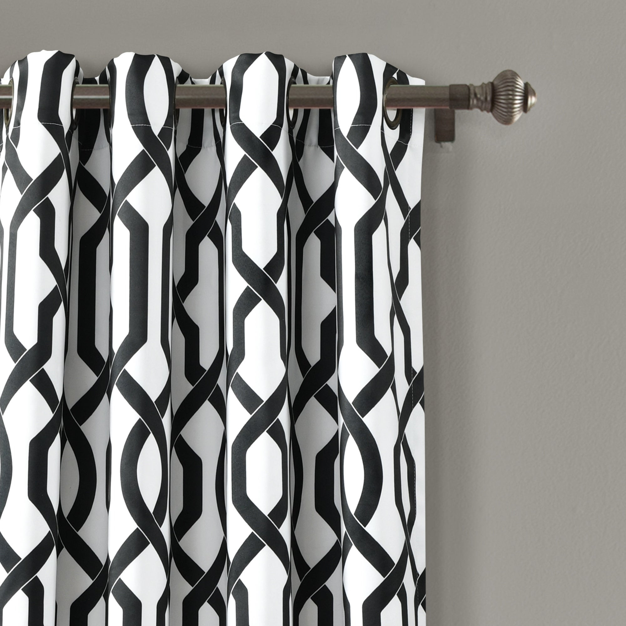 Lush Decor Edward Moroccan Pattern Room Darkening Curtain Panel Pair With Most Up To Date Edward Moroccan Pattern Room Darkening Curtain Panel Pairs (View 6 of 20)