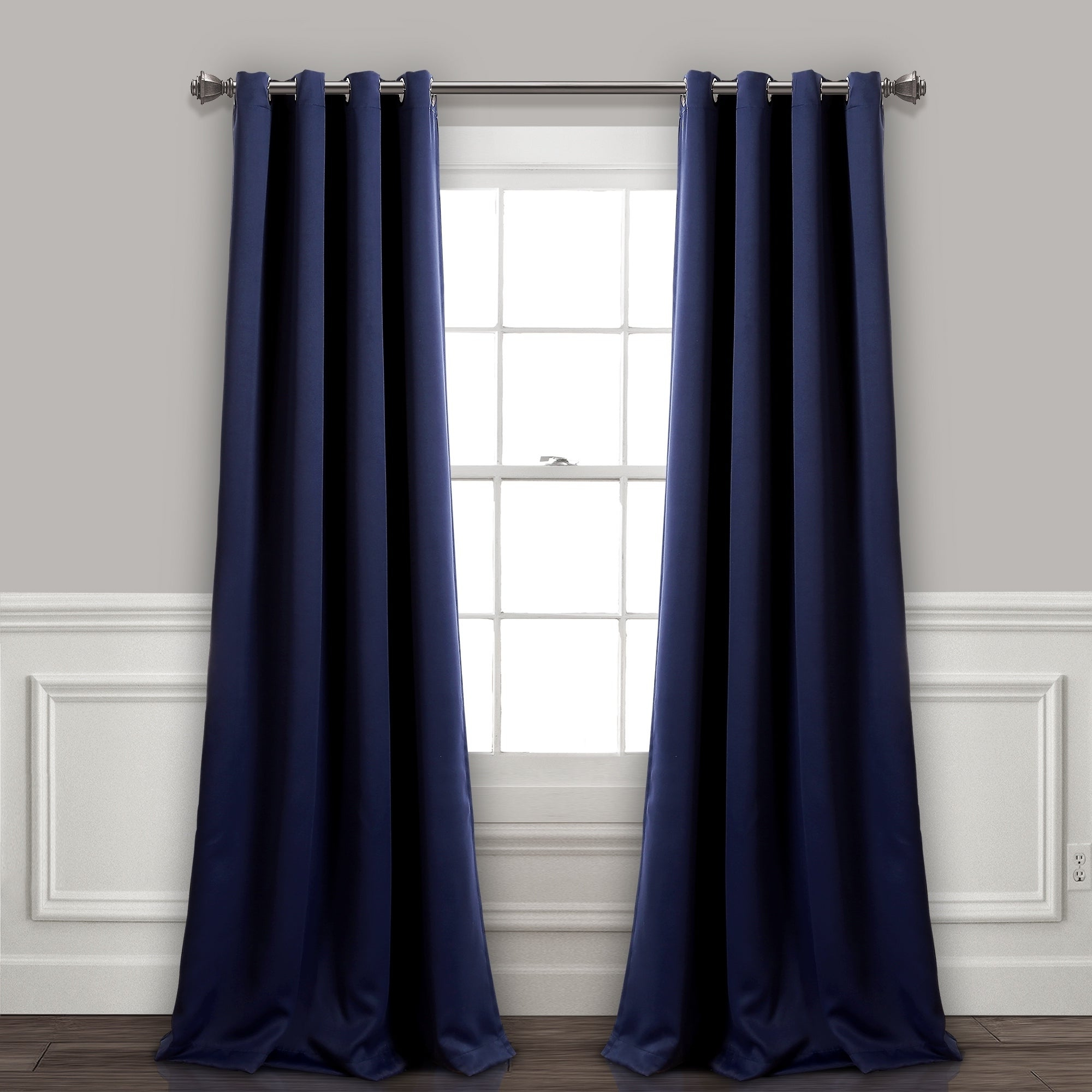 Lush Decor Insulated Grommet Blackout Curtain Panel Pair In Widely Used Insulated Grommet Blackout Curtain Panel Pairs (View 3 of 20)