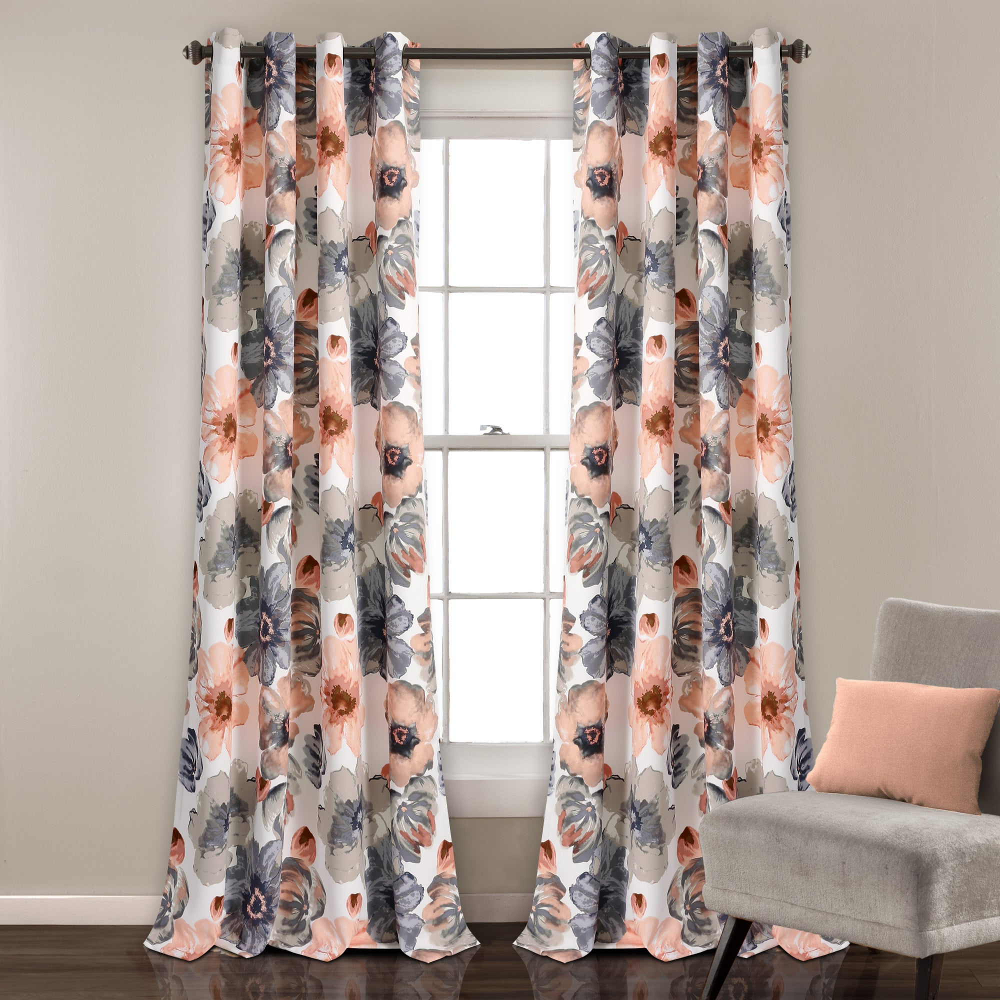 Lush Decor Leah Room Darkening Curtain Panel Pair Pertaining To 2020 Leah Room Darkening Curtain Panel Pairs (Gallery 1 of 20)