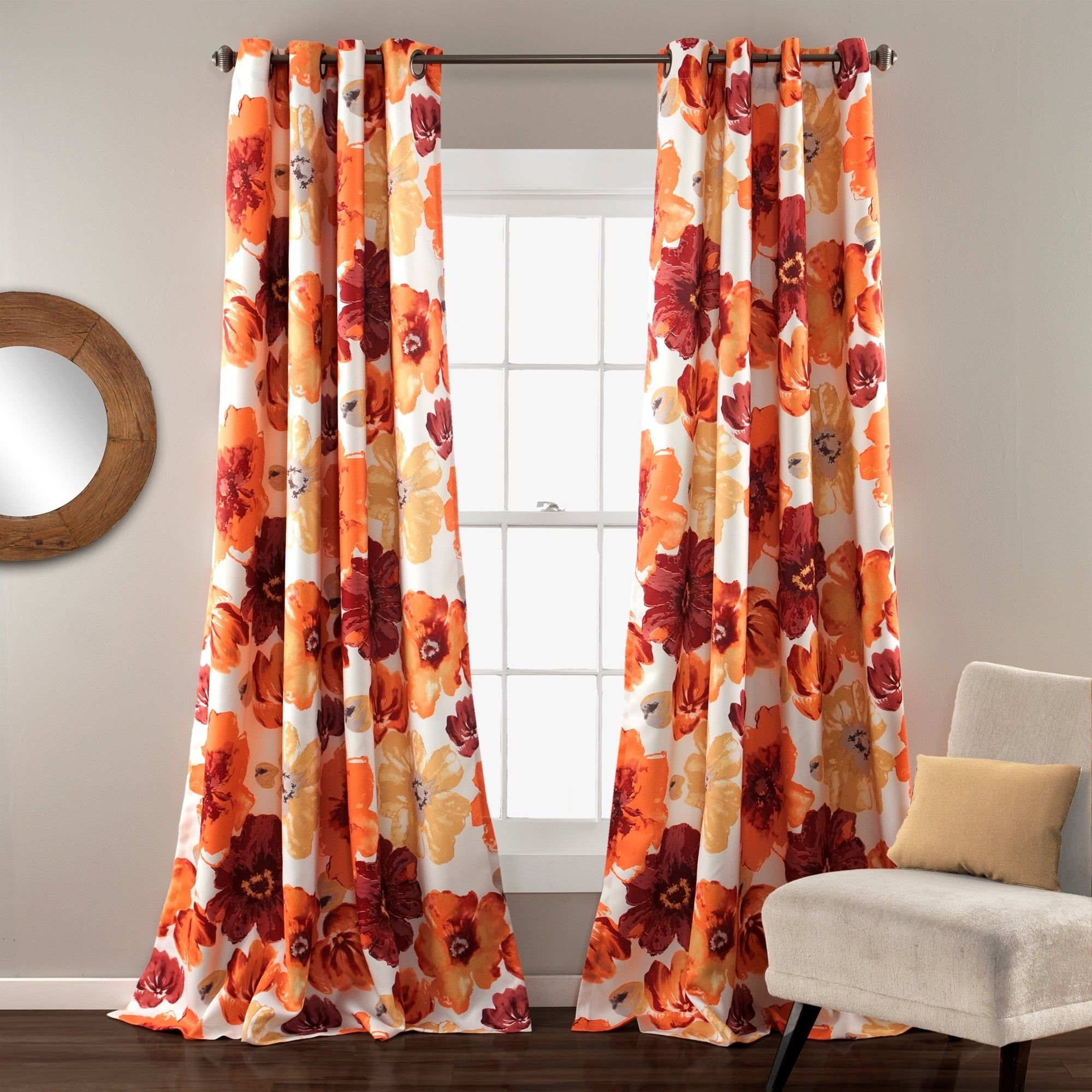 Lush Decor Leah Room Darkening Curtain Panel Pair Regarding Fashionable Leah Room Darkening Curtain Panel Pairs (Gallery 10 of 20)