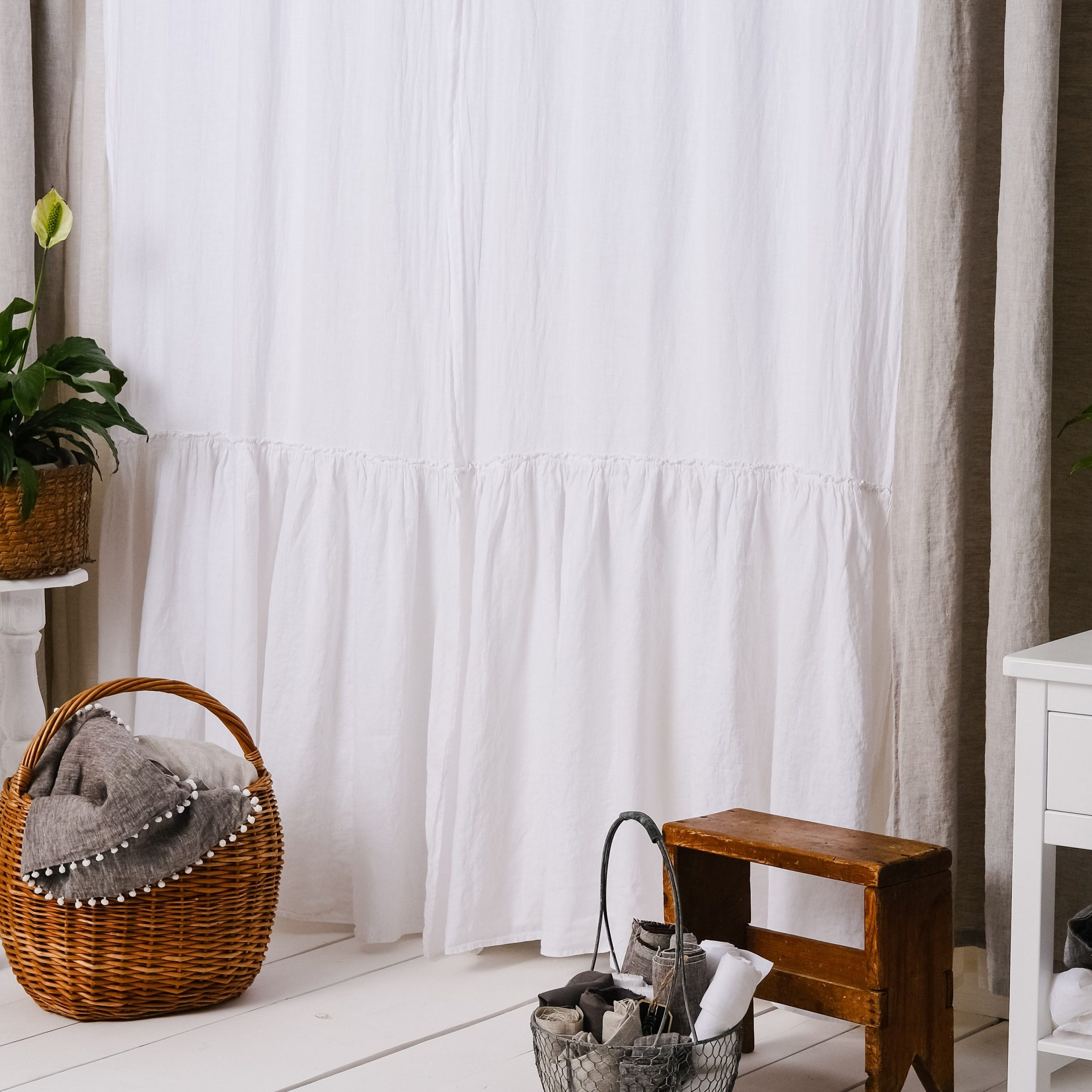 [%Luxury 100% Linen Farmhouse Ruffle Linen Curtain Panels Set In Trendy Signature French Linen Curtain Panels|Signature French Linen Curtain Panels With Regard To Popular Luxury 100% Linen Farmhouse Ruffle Linen Curtain Panels Set|Current Signature French Linen Curtain Panels Regarding Luxury 100% Linen Farmhouse Ruffle Linen Curtain Panels Set|Most Recent Luxury 100% Linen Farmhouse Ruffle Linen Curtain Panels Set Regarding Signature French Linen Curtain Panels%] (View 20 of 20)
