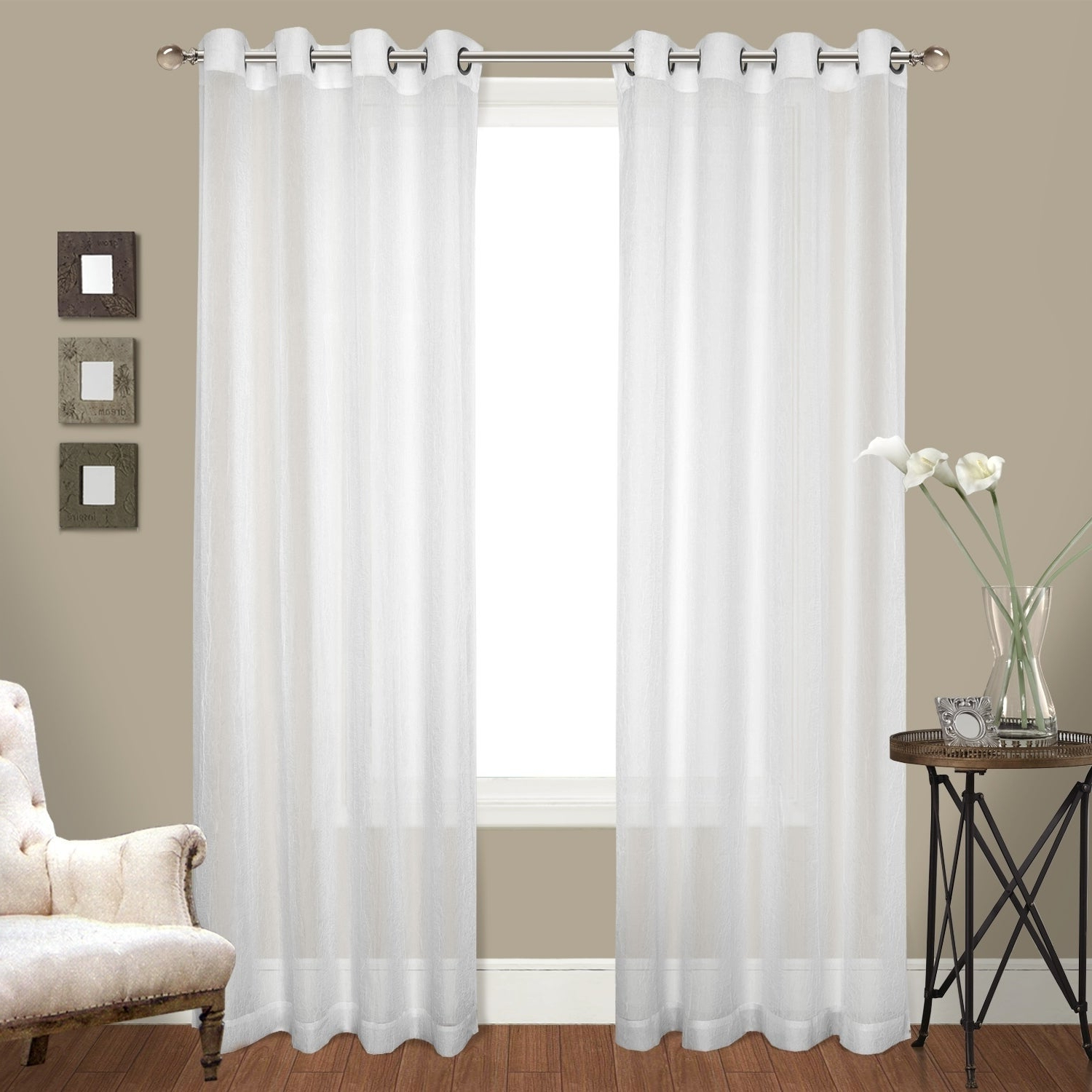 Featured Photo of Luxury Collection Cranston Sheer Curtain Panel Pairs
