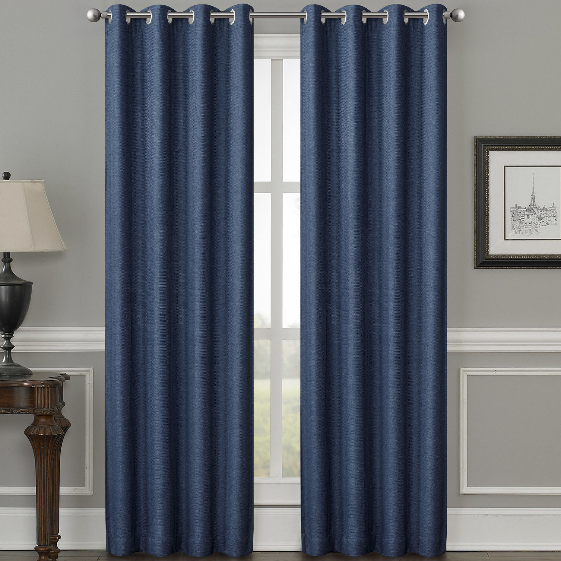Luxury Collection Cranston Sheer Curtain Panel Pairs For Popular Moravian Weave Solid Room Darkening Thermal Grommet Single Curtain Panel (Gallery 18 of 20)