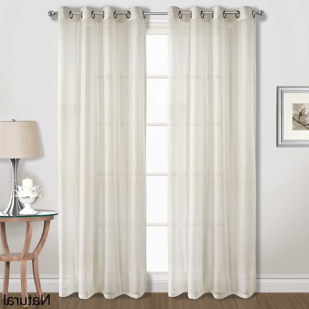 Luxury Collection Cranston Sheer Curtain Panel Pairs For Well Known Luxury Collection Extra Wide Grommet Sheer Voile Curtain Panel Pair (View 2 of 20)