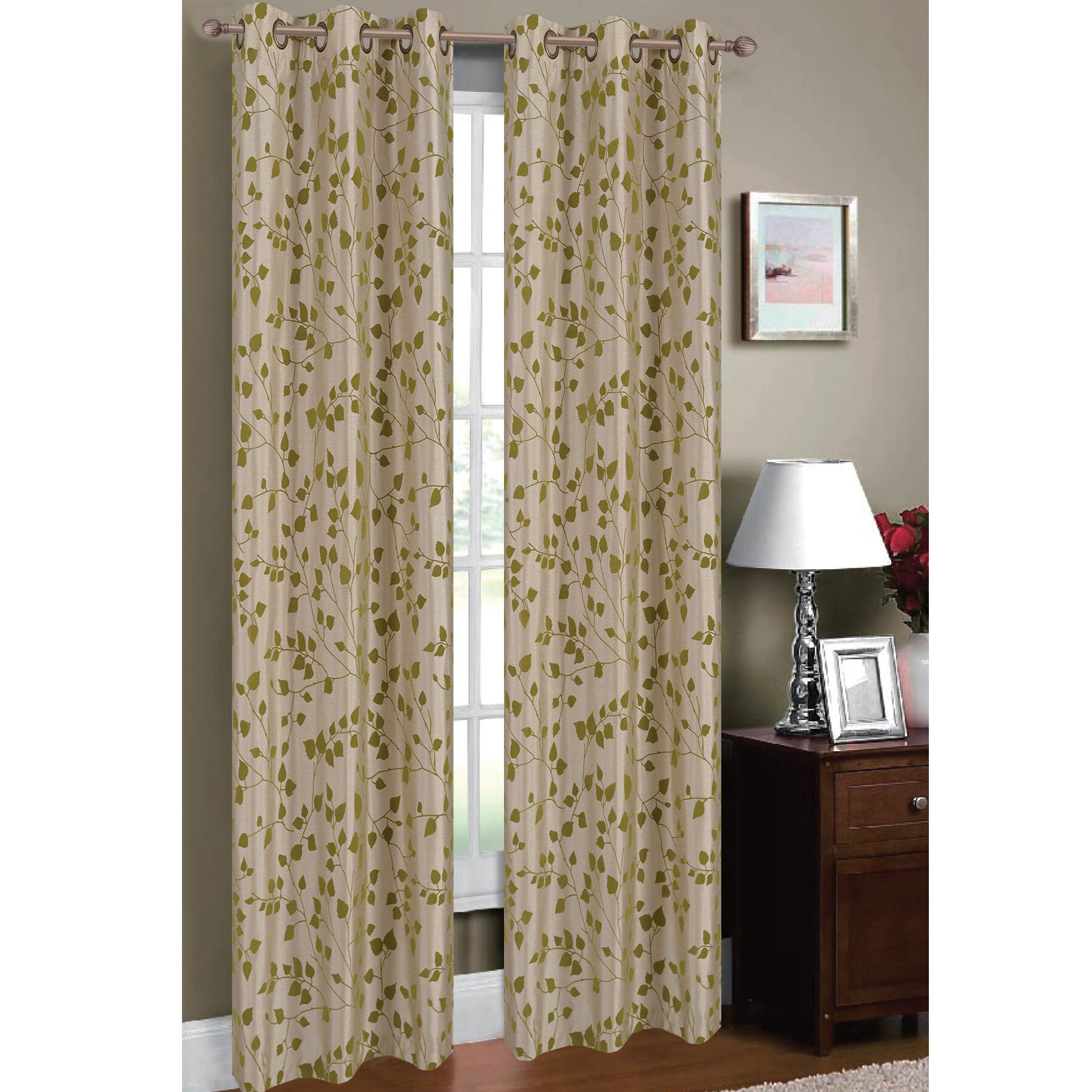 Luxury Collection Cranston Sheer Curtain Panel Pairs Pertaining To Well Known Meadow Nature/floral Sheer Grommet Curtain Panels (View 20 of 20)