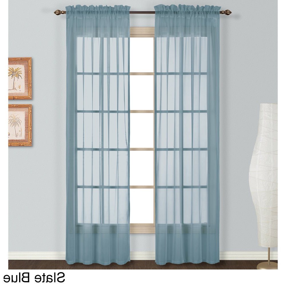 Luxury Collection Monte Carlo Sheer Curtain Panel Pair With Regard To Popular Luxury Collection Monte Carlo Sheer Curtain Panel Pairs (View 2 of 20)