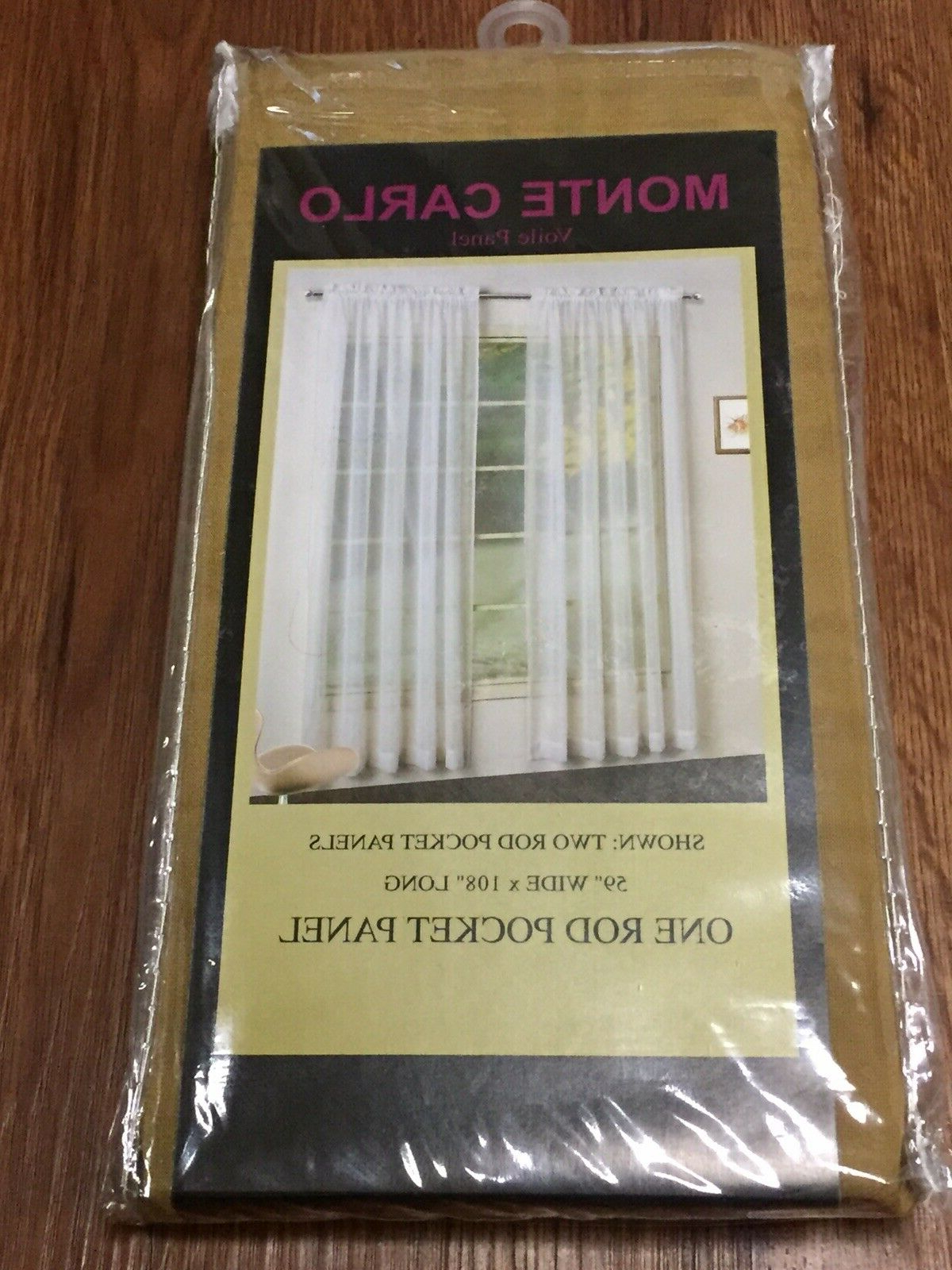 """Luxury Collection Monte Carlo Sheer Curtain Panel Pairs Throughout Most Recent Monte Carlo Voile Panel One Rod Pocket Panel 59 X 108"""" Bronze (View 14 of 20)"""