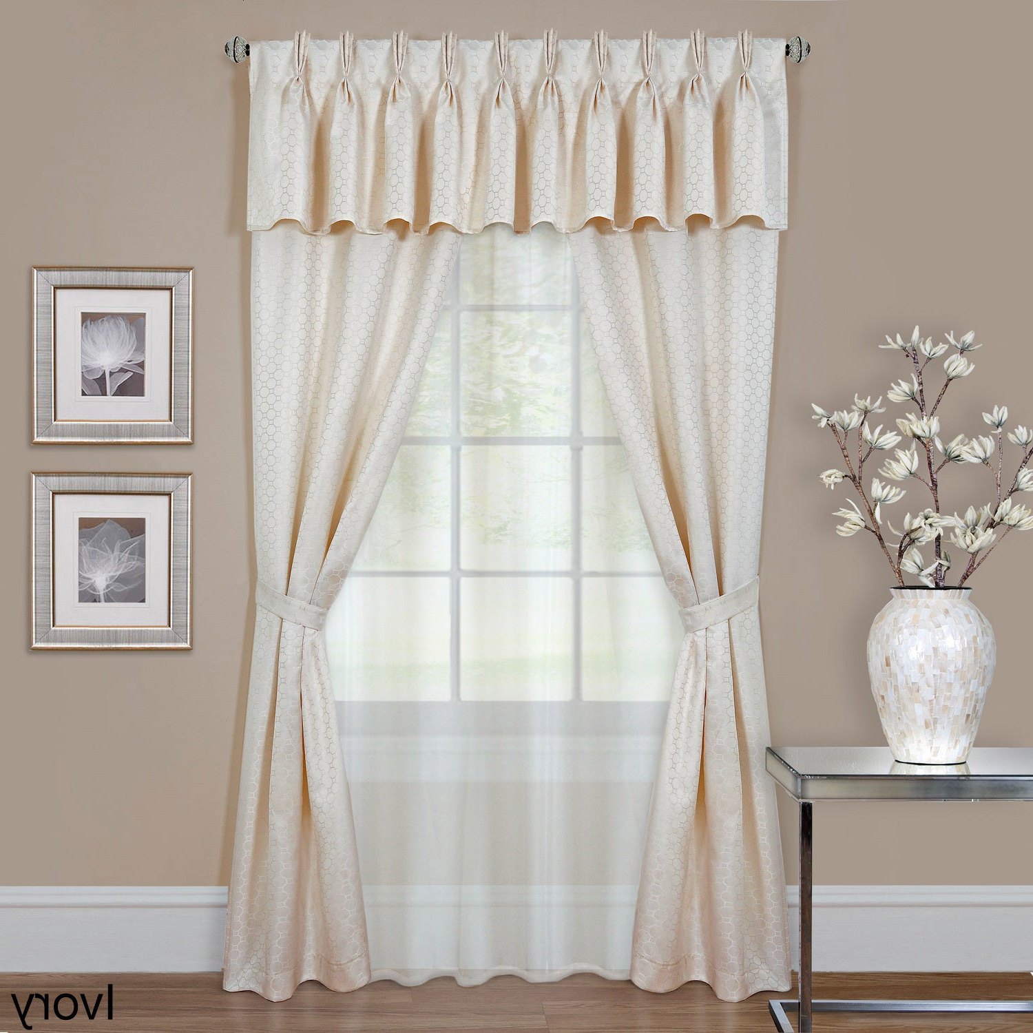 Luxury Collection Summit Sheer Curtain Panel Pairs For Recent Achim Claire 6 Piece Window Curtain Set (View 6 of 20)