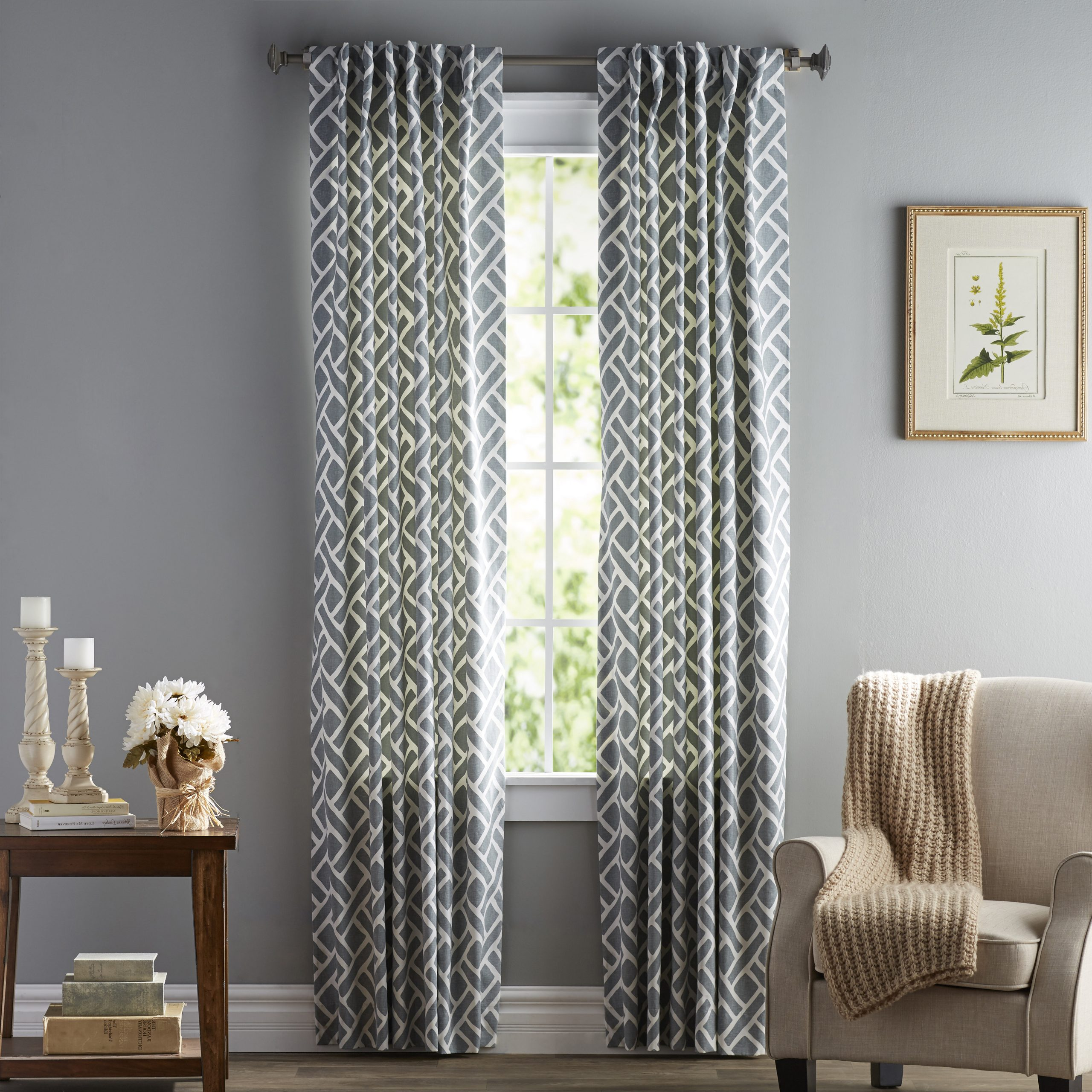 Luxury Collection Summit Sheer Curtain Panel Pairs With Preferred Langley Street Berumen Geometric Room Darkening Rod Pocket (Gallery 12 of 20)