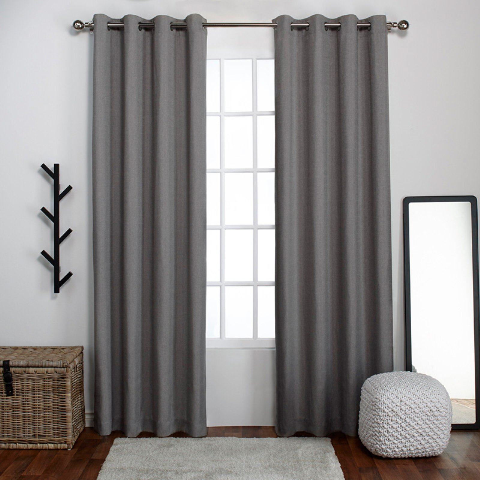 Luxury Collection Venetian Sheer Curtain Panel Pairs With Regard To Most Recent Exclusive Home Loha Grommet Curtain Panel Pair Winter White (View 17 of 20)
