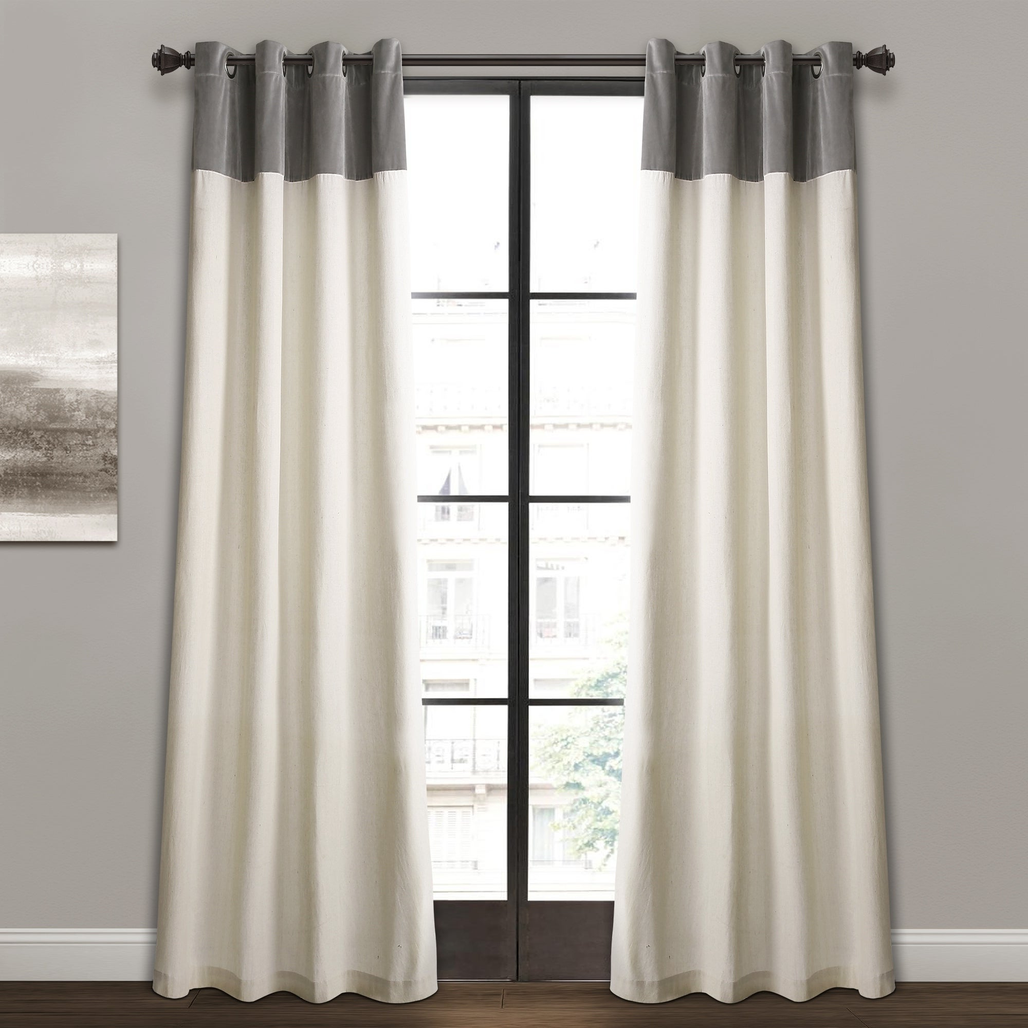 Lydia Ruffle Window Curtain Panel Pairs With Latest Details About Lush Decor Milo Linen Window Curtain Panel Pair (View 17 of 20)