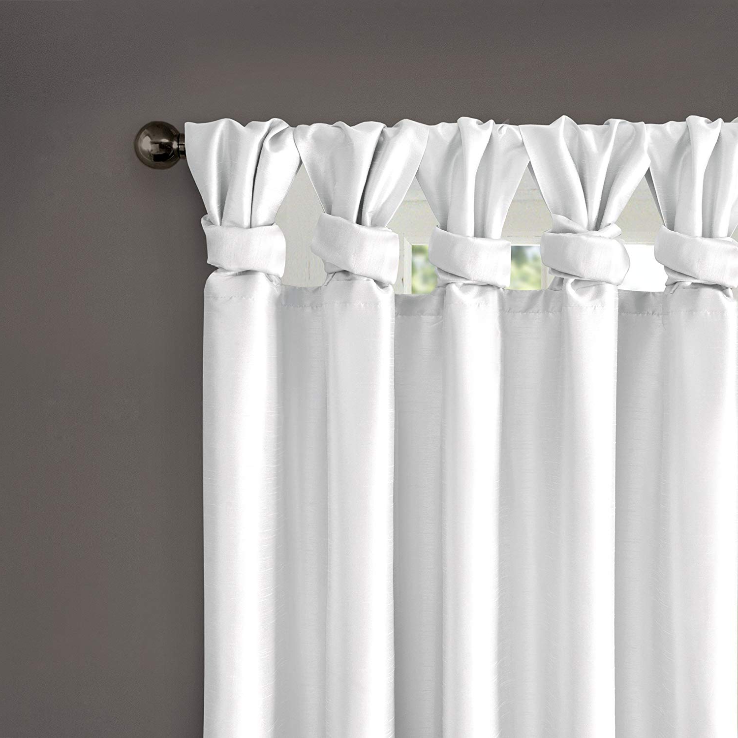 """Madison Park Emilia Twist Tab Lined Window Curtain White 84"""" Panel With Regard To 2021 Twisted Tab Lined Single Curtain Panels (View 14 of 20)"""