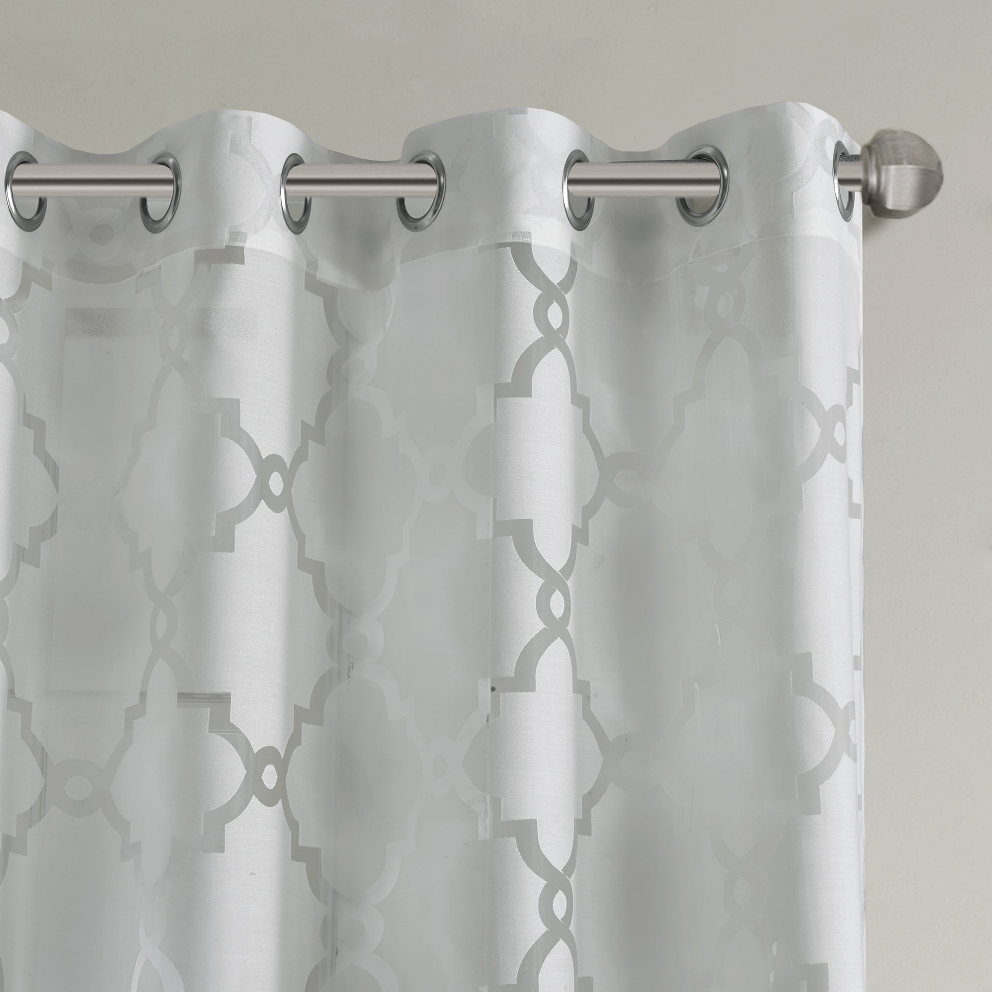 Madison Park Laya Fretwork Burnout Sheer Curtain Panel For Most Recently Released Laya Fretwork Burnout Sheer Curtain Panels (View 5 of 20)