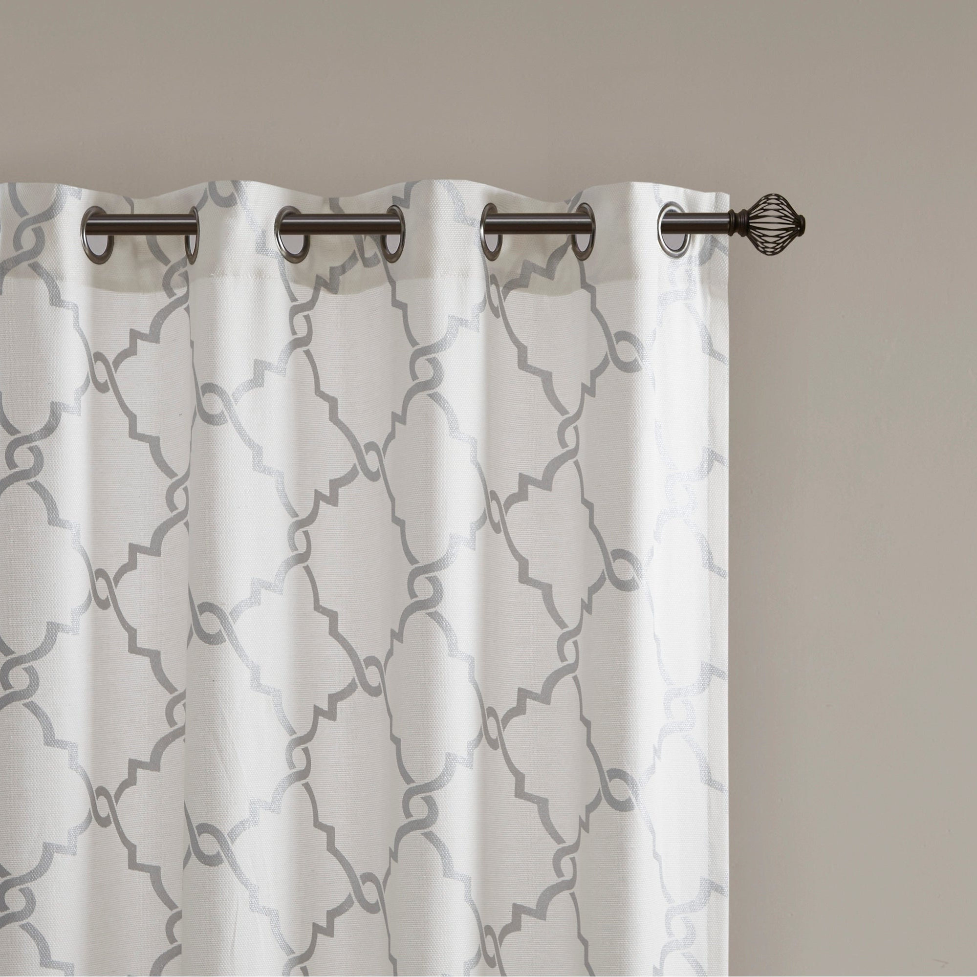 Madison Park Westmont Fretwork Print Pattern Single Curtain Panel Intended For Most Recent Fretwork Print Pattern Single Curtain Panels (Gallery 5 of 20)