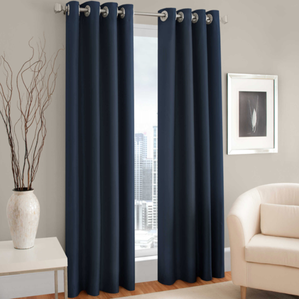 "Majestic 84"" L, 1 Blackout Lined Grommet Curtain Panel – Blue Regarding Most Current Lined Grommet Curtain Panels (View 14 of 20)"