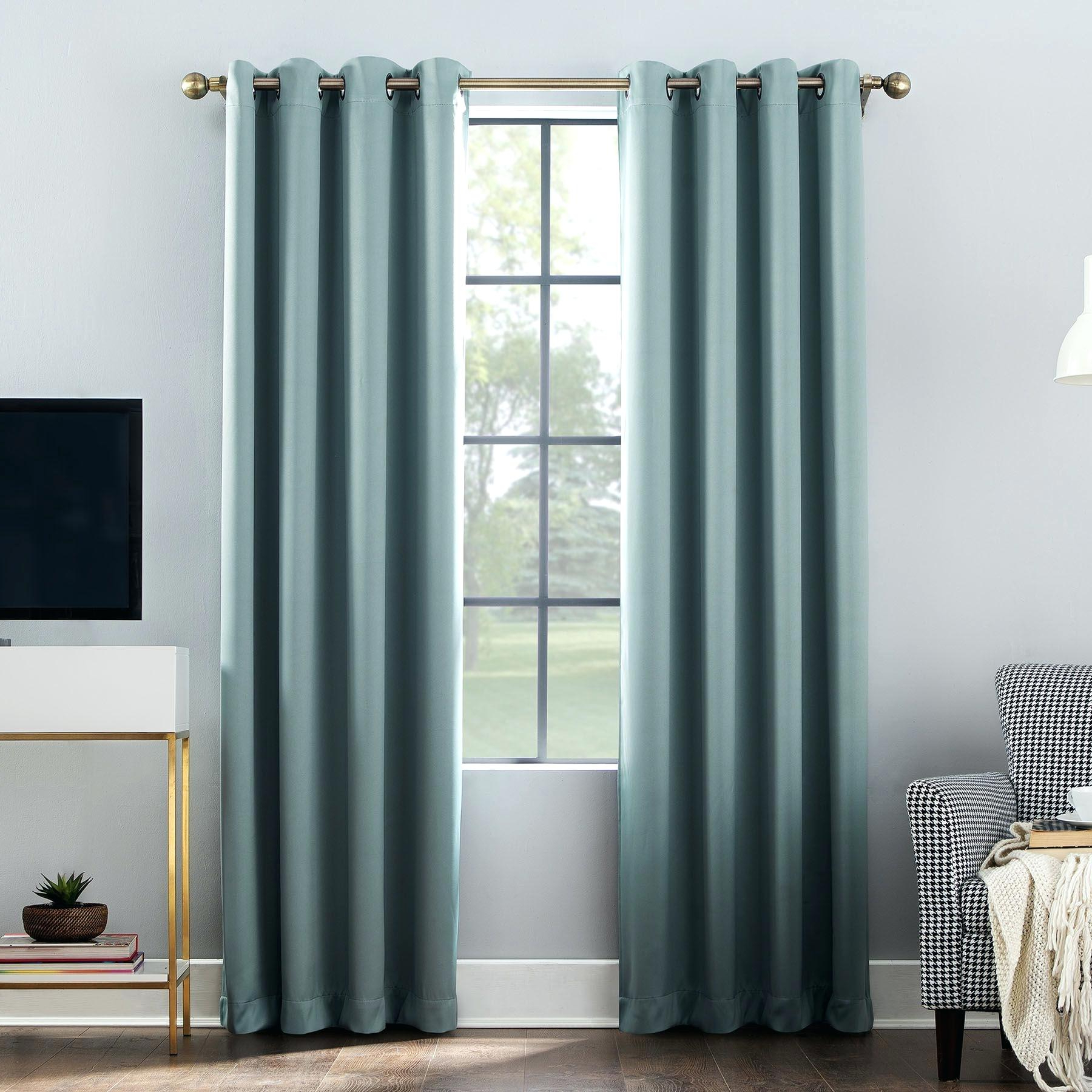 Marvellous Grommet Curtains Outdoor On Sale Blackout Diy Inside Well Known Ultimate Blackout Short Length Grommet Panels (View 8 of 20)