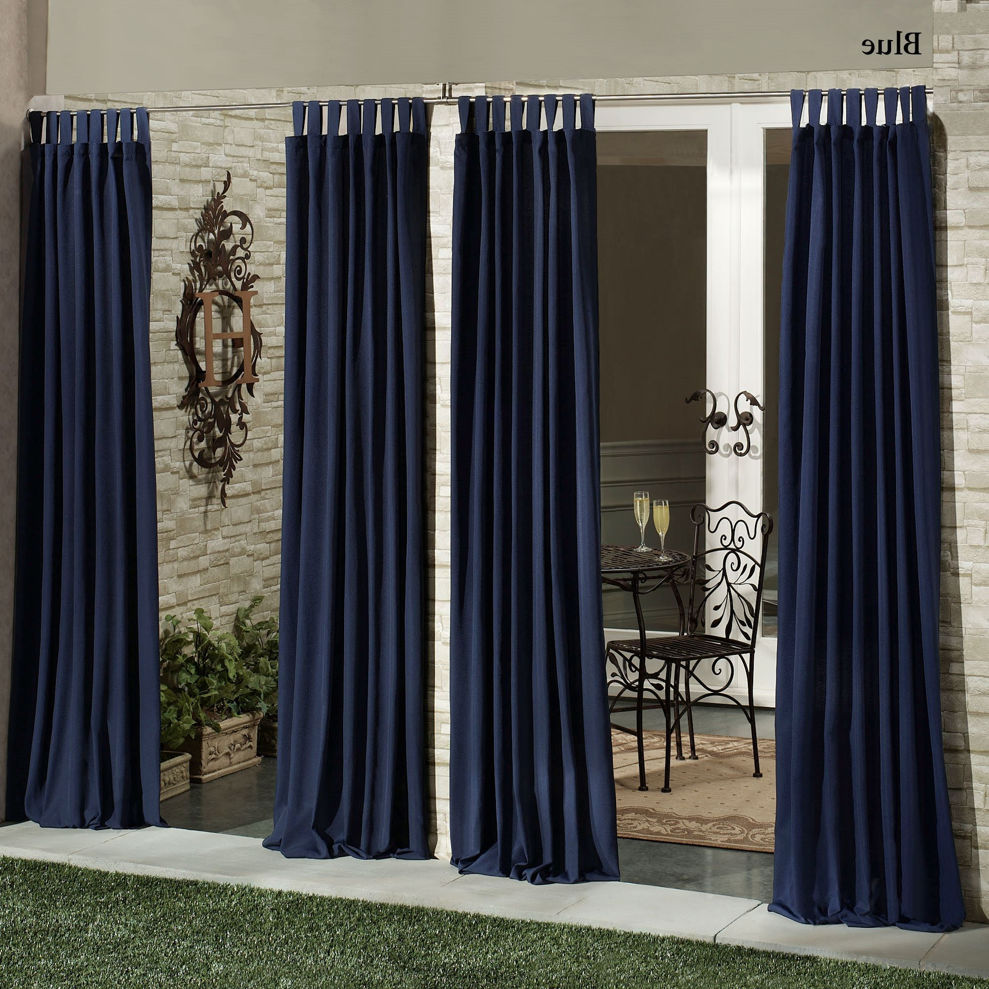 Matine Indoor Outdoor Tab Top Curtain Panels For Well Known Matine Indoor/outdoor Curtain Panels (View 6 of 20)