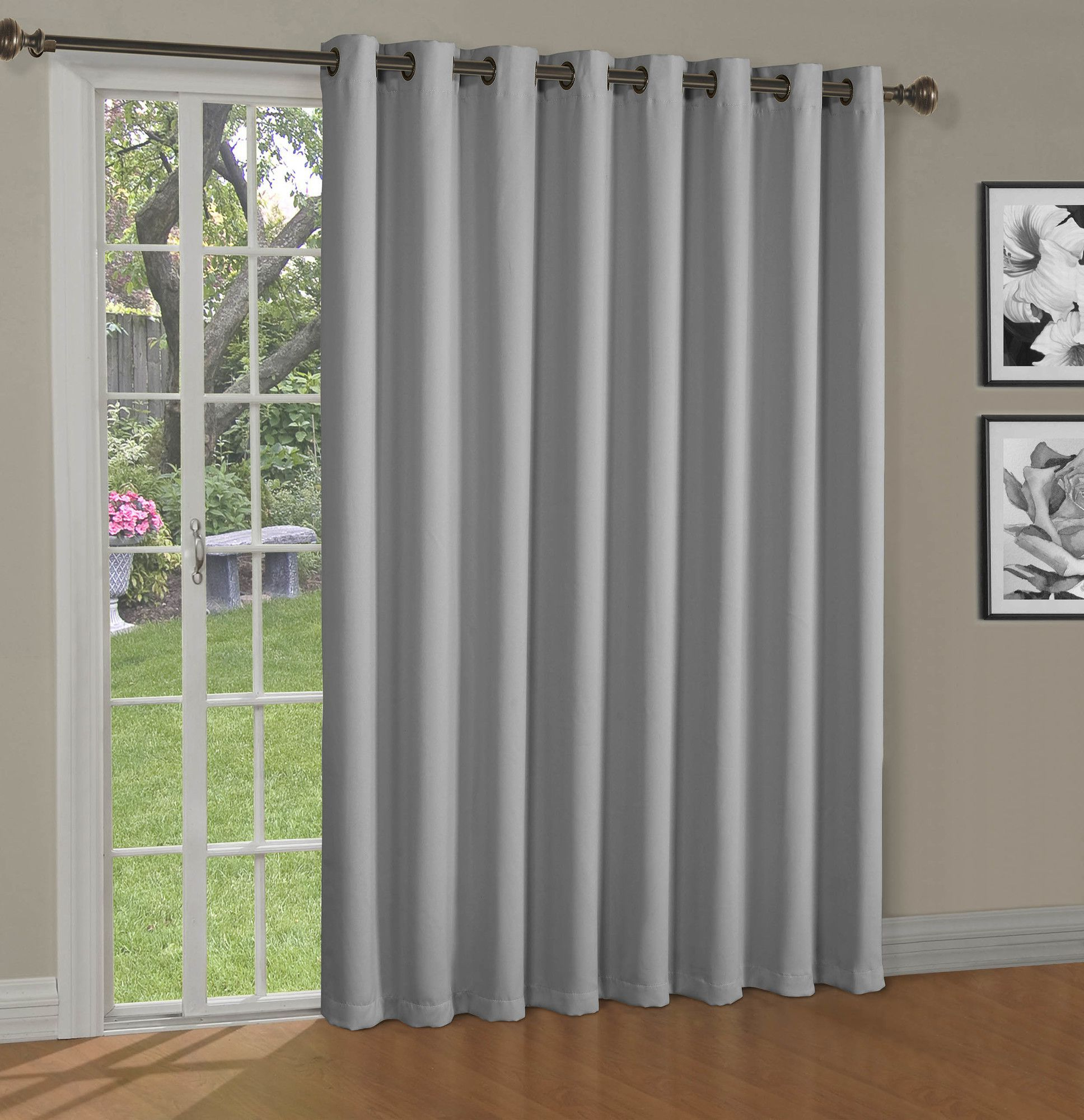Maya Blackout Thermal Patio Door Extra Wide Grommet Curtain With Regard To 2020 Grommet Blackout Patio Door Window Curtain Panels (Gallery 14 of 20)