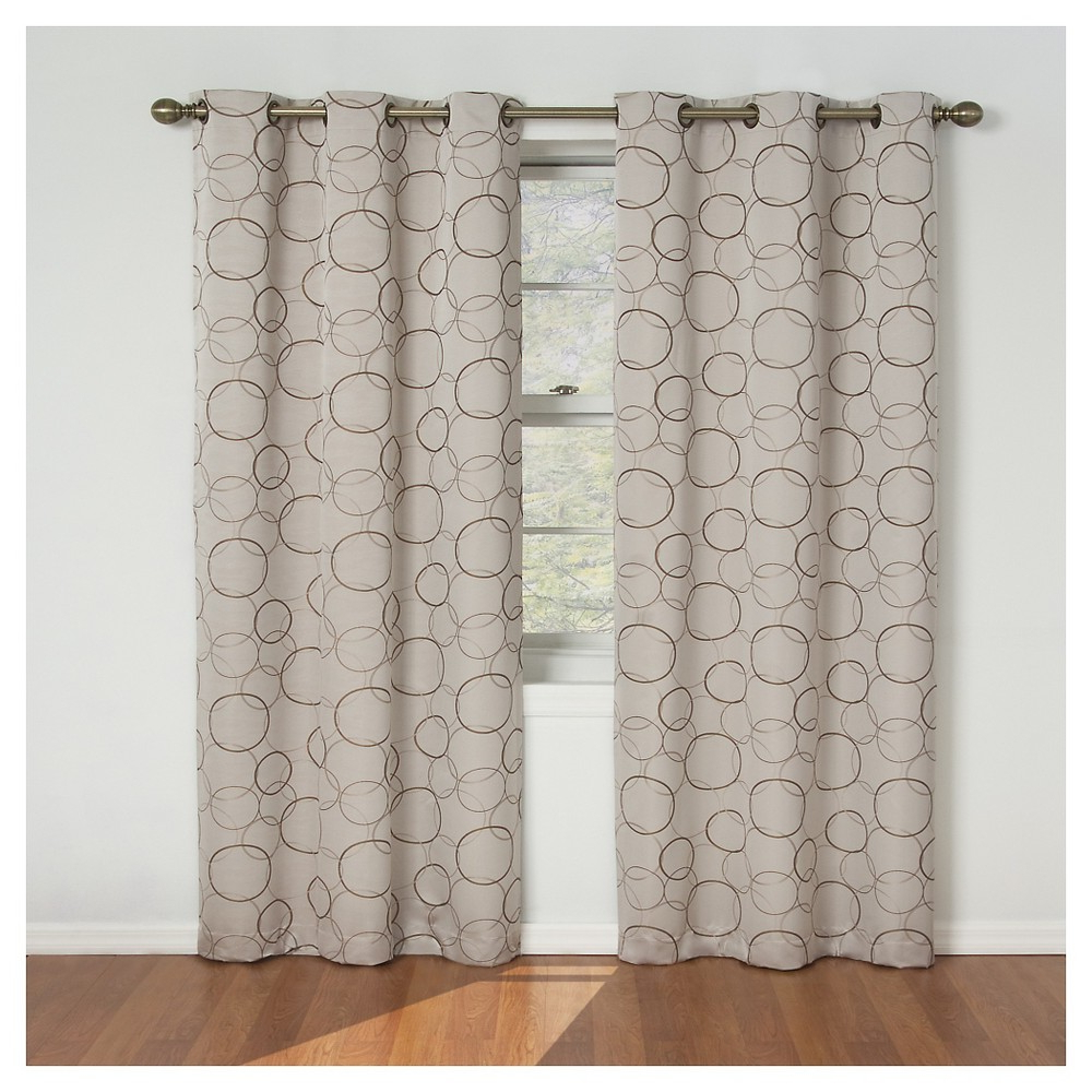 Meridian Blackout Window Curtain Panels With Trendy Eclipse Thermaback Meridian Blackout Curtain Panel – Linen (View 13 of 20)