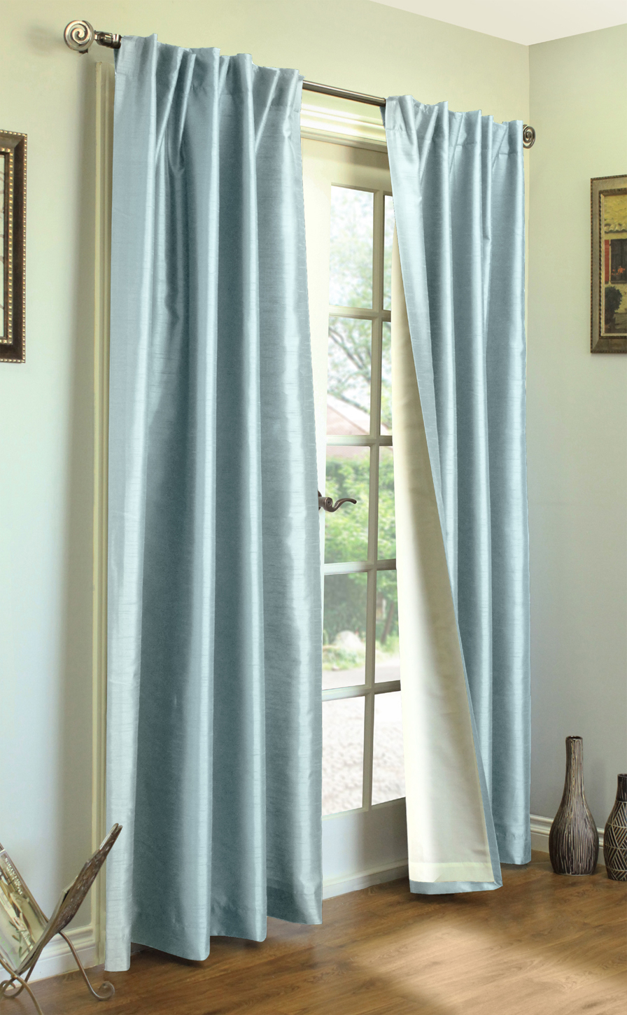 Ming Lined Thermasilk – Two Ways To Hang Curtain Panels (Pair) Within Trendy Curtain Panel Pairs (Gallery 3 of 20)