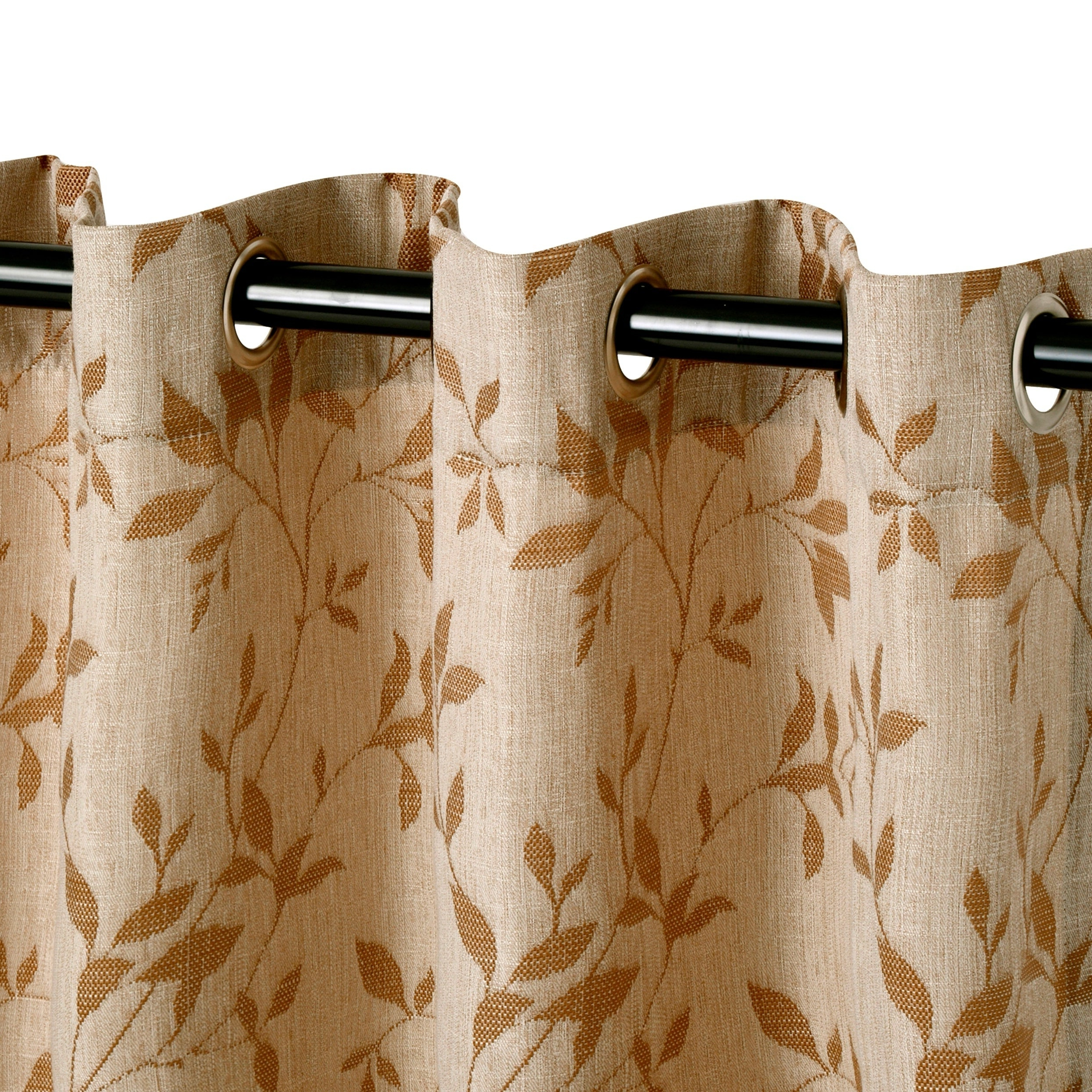 Miranda Haus Comera Jacquard Grommet Curtain Panel (set Of 2) Throughout Most Current Miranda Haus Labrea Damask Jacquard Grommet Curtain Panels (View 20 of 20)
