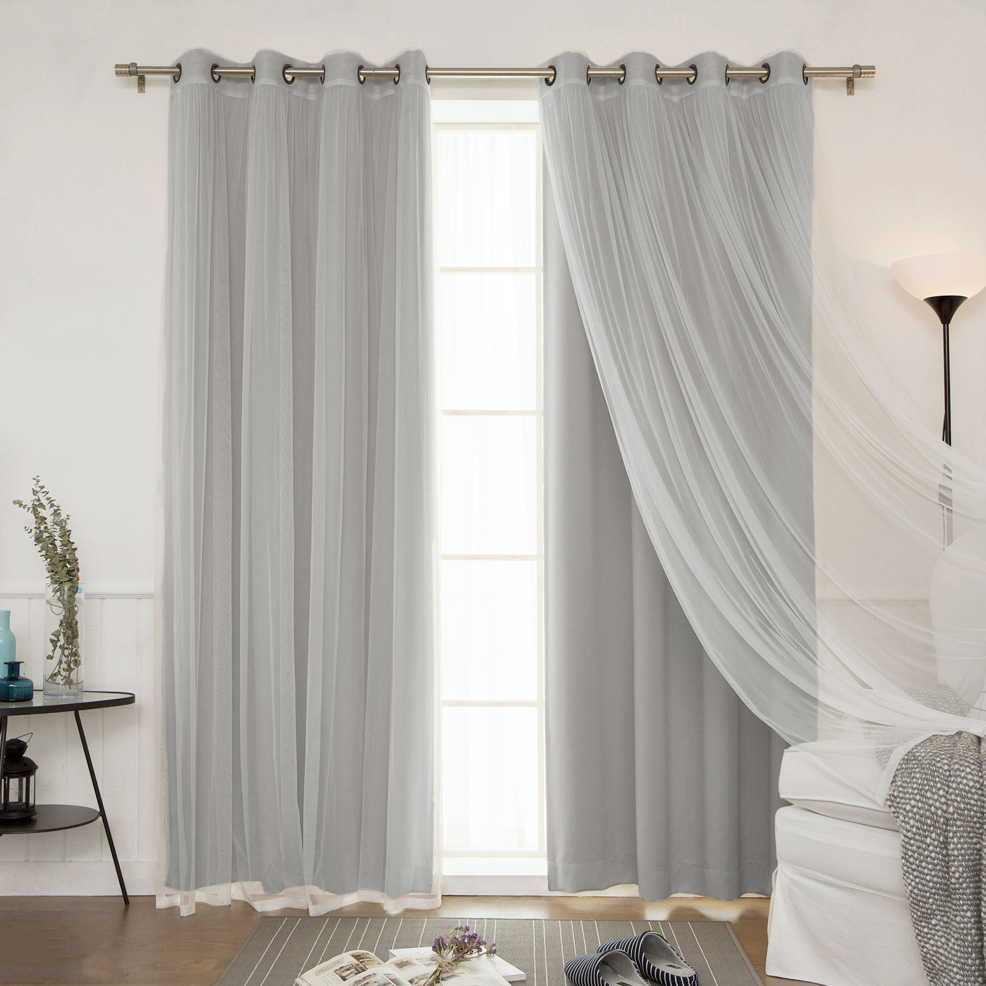 Mix And Match Blackout Blackout Curtains Panel Sets Regarding Most Recent Aurora Home Mix And Match Blackout Blackout Curtains Panel Set (4 Piece) (Gallery 1 of 20)