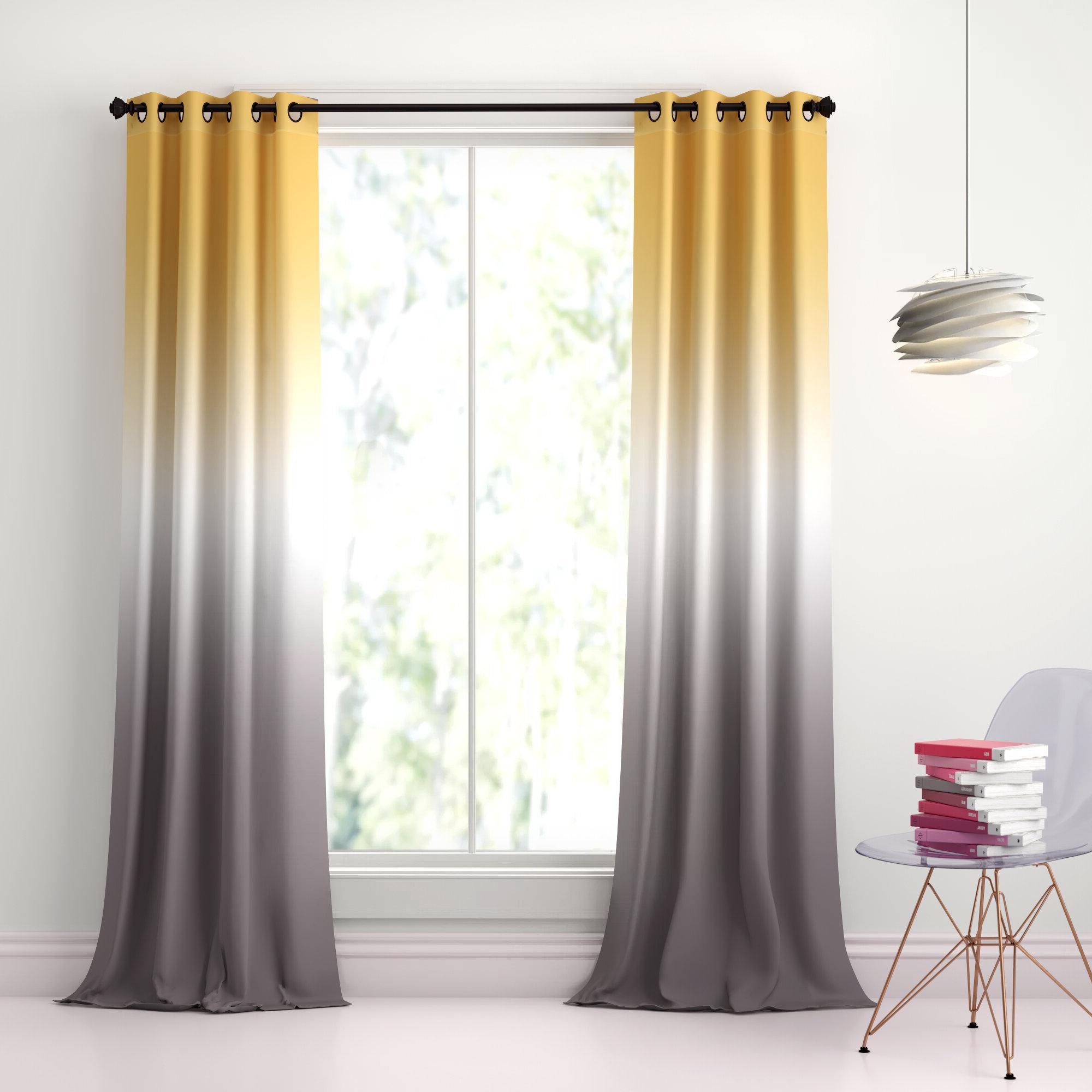 Monte Solid Room Darkening Grommet Panel Pair In Well Liked Mid Century Geo Room Darkening Window Curtain Panel Pairs (View 14 of 22)